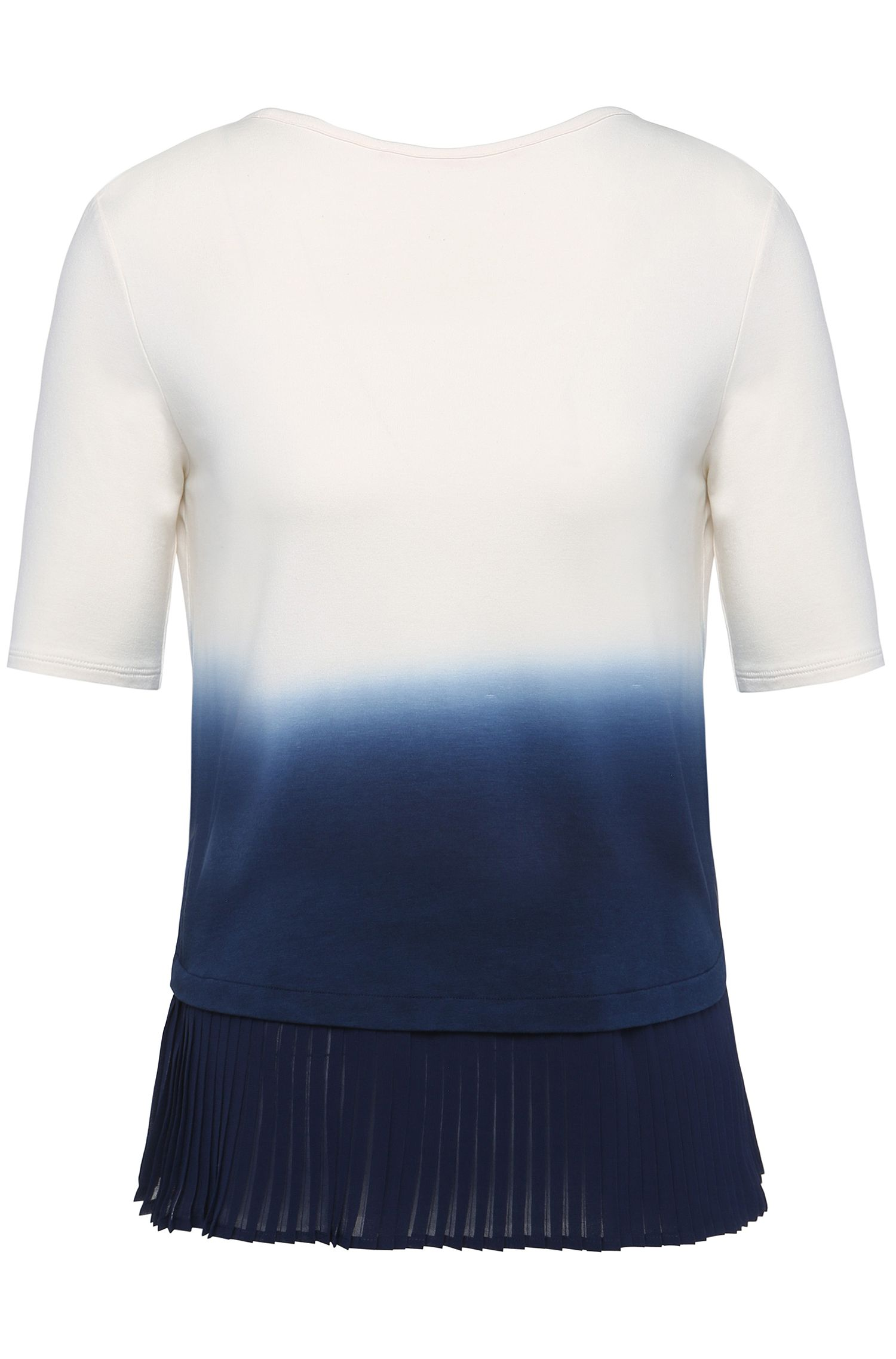 Sweatshirt met korte mouwen en plisséplooien: 'Tadip'