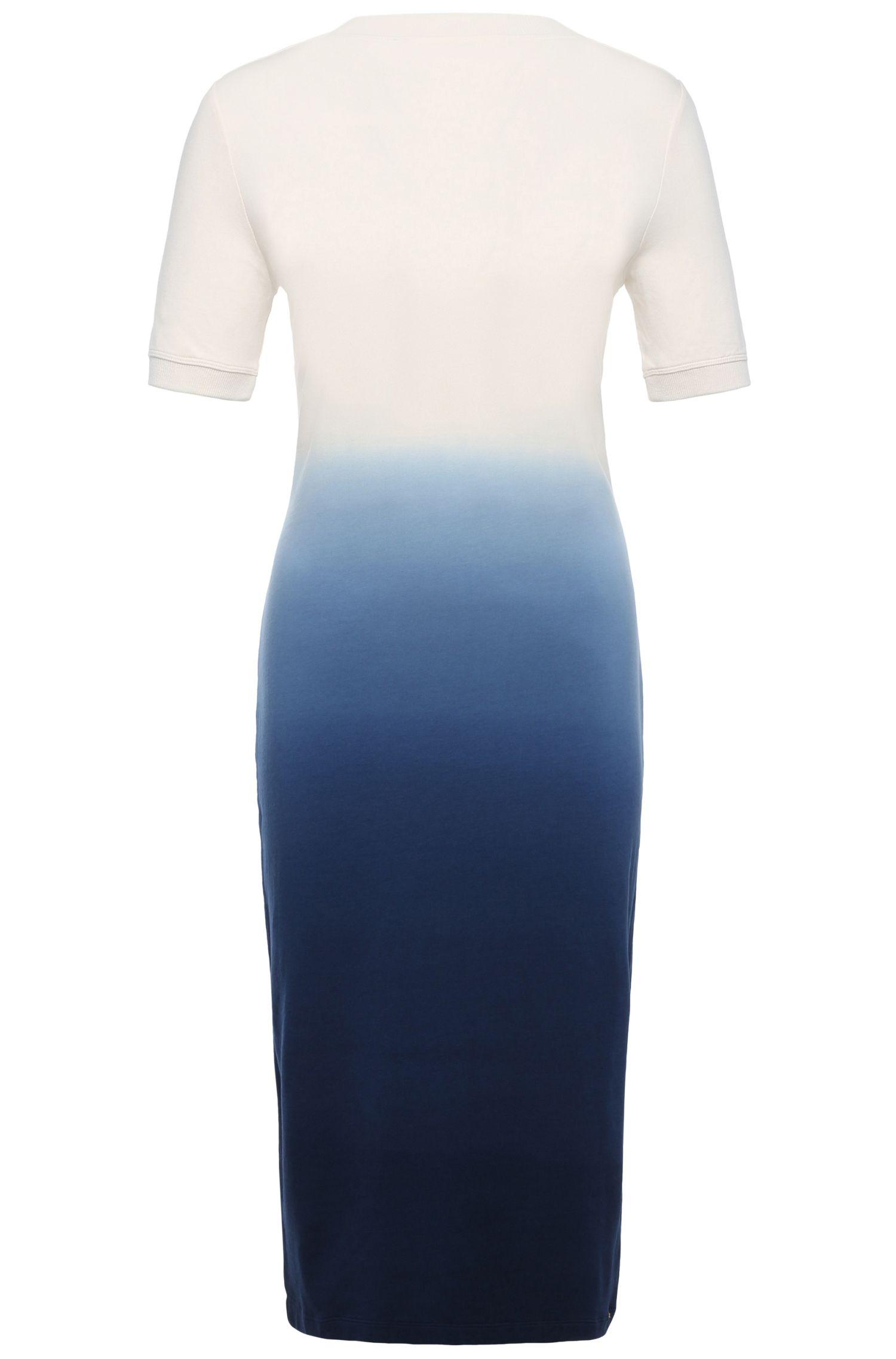 Regular-fit jurk van een elastische mix van viscose en katoen: 'Dipda'