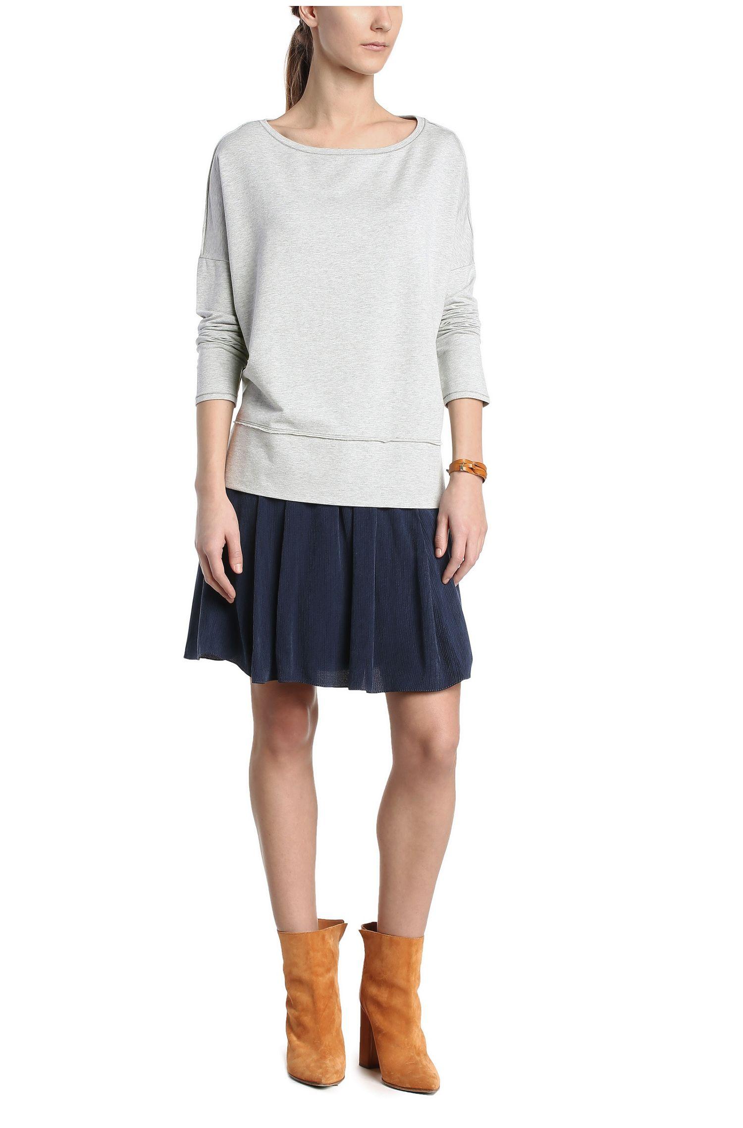 Sweatshirt aus elastischem Viskose-Baumwoll-Mix: ´Tersweat`