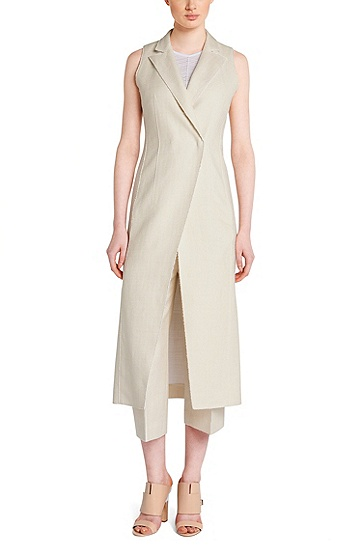 Runway Edition sleeveless tailored coat: 'FS_Dilinnen1' , Natural