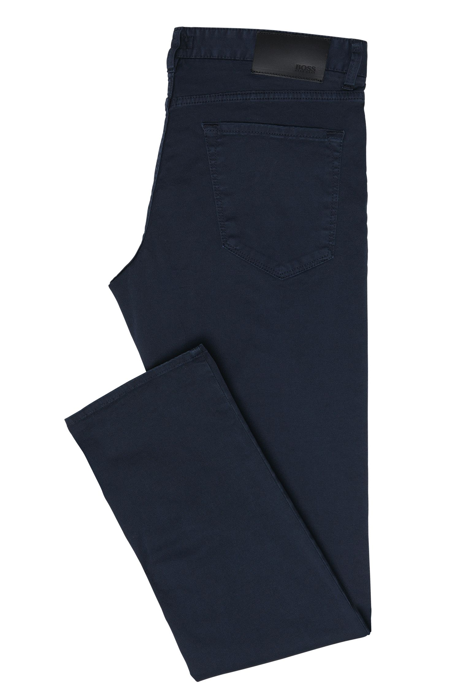 Pantalon Regular Fit en coton stretch de style cinq poches : « Maine3-20 »