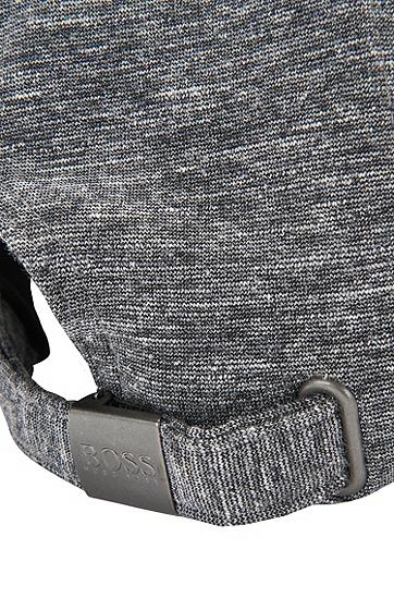 Melierte Cap aus Material-Mix mit Viskose und Baumwolle: 'Seranio', Grau