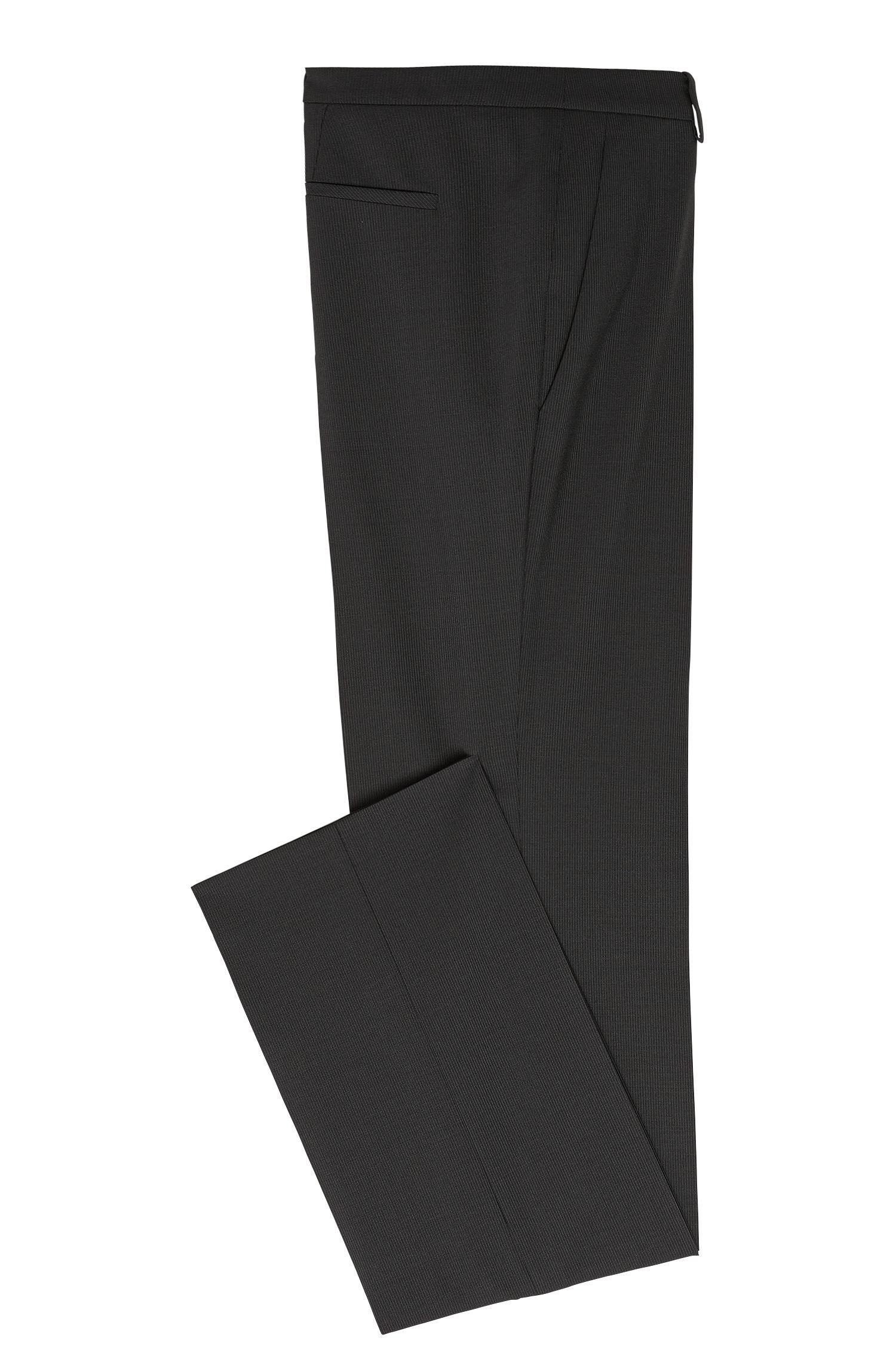 Pantalons à rayures tennis en laine vierge extensible: «Hinass-5»
