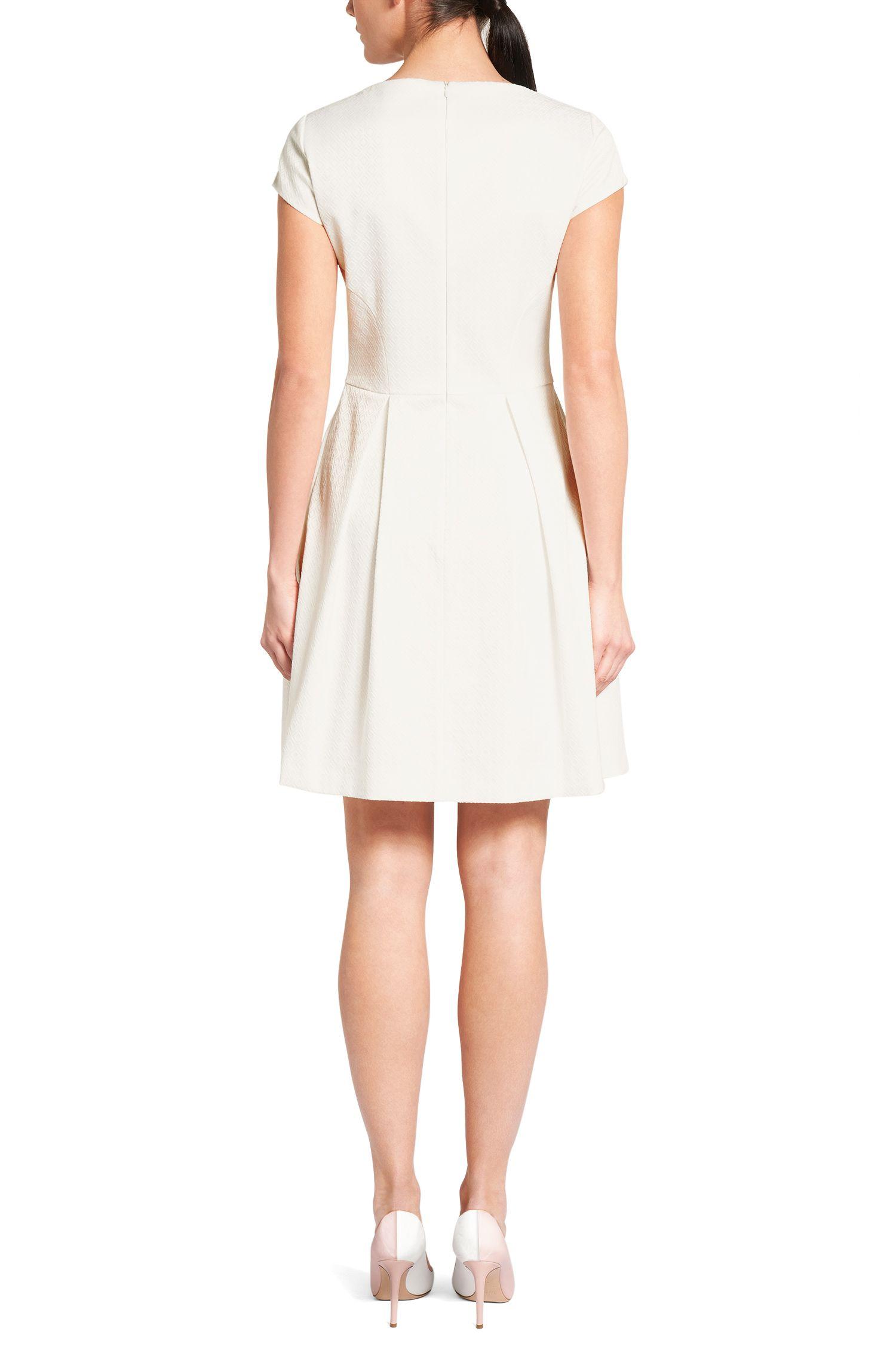 Strukturiertes Kleid aus Baumwoll-Mix: 'Kiriko'
