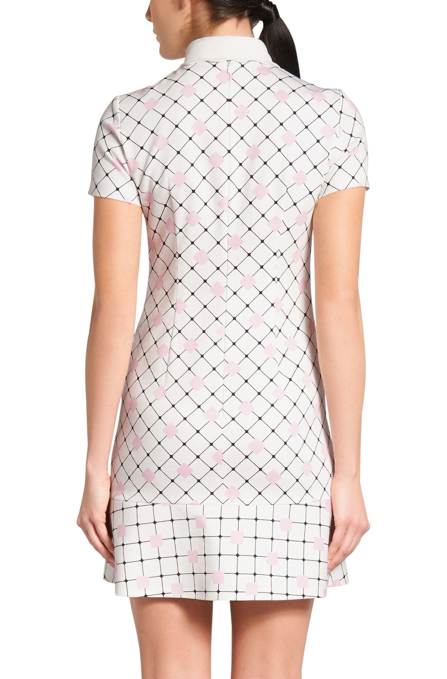 Bedrucktes Kleid aus Stretch-Baumwolle: 'Kaorie-1'