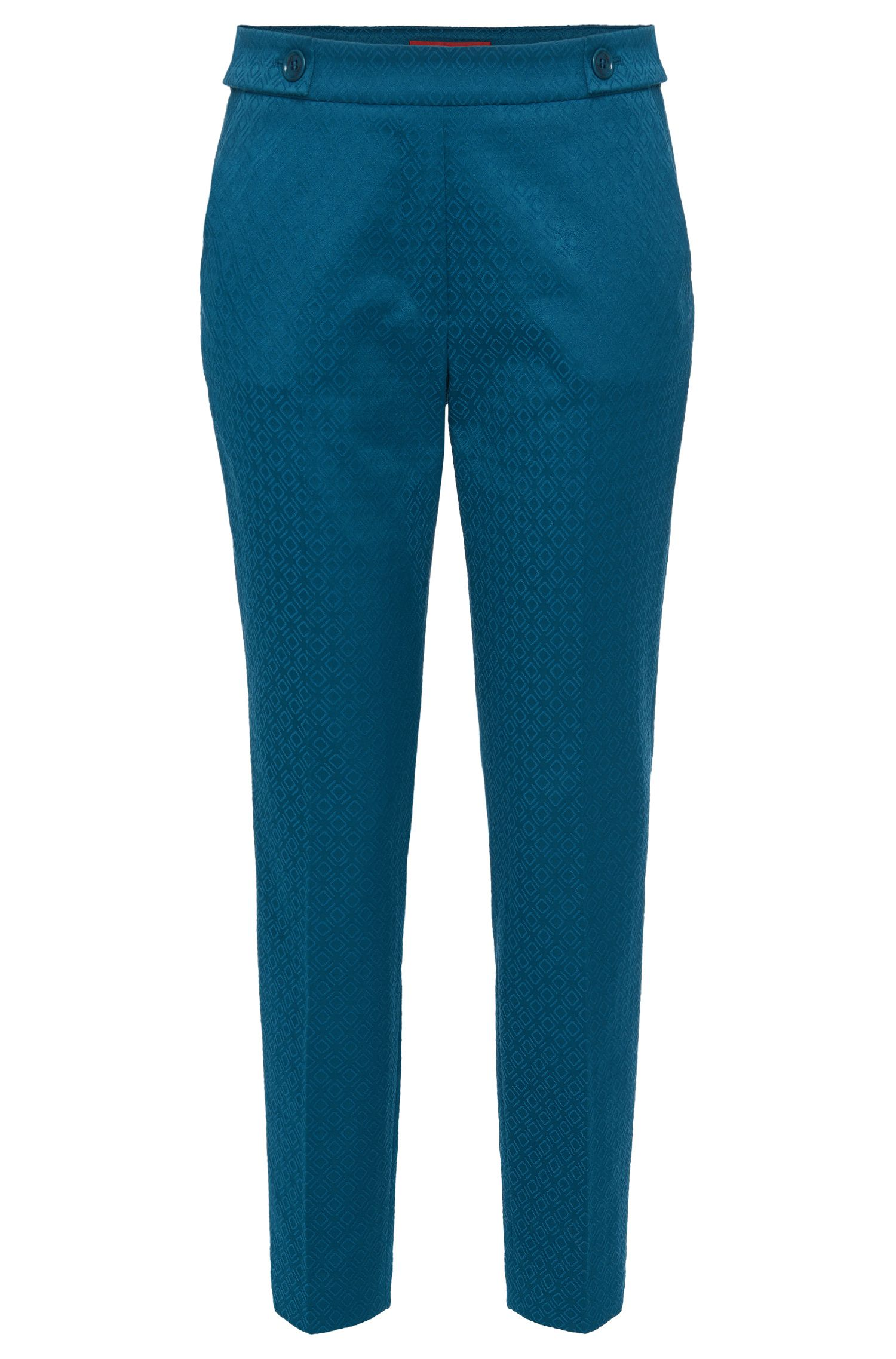 Jacquard trousers in cotton blend with elastane: 'Himonis-1'