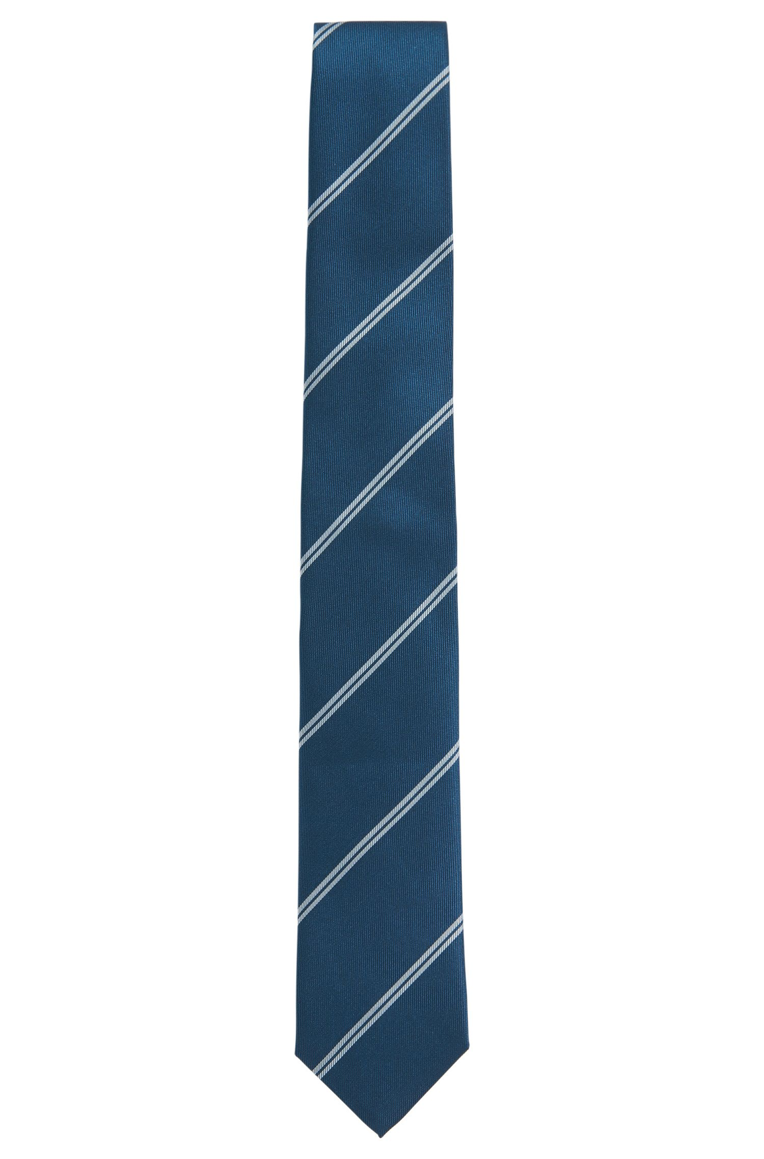 Gestreifte Krawatte aus reiner Seide: 'T-Tie 6 cm'