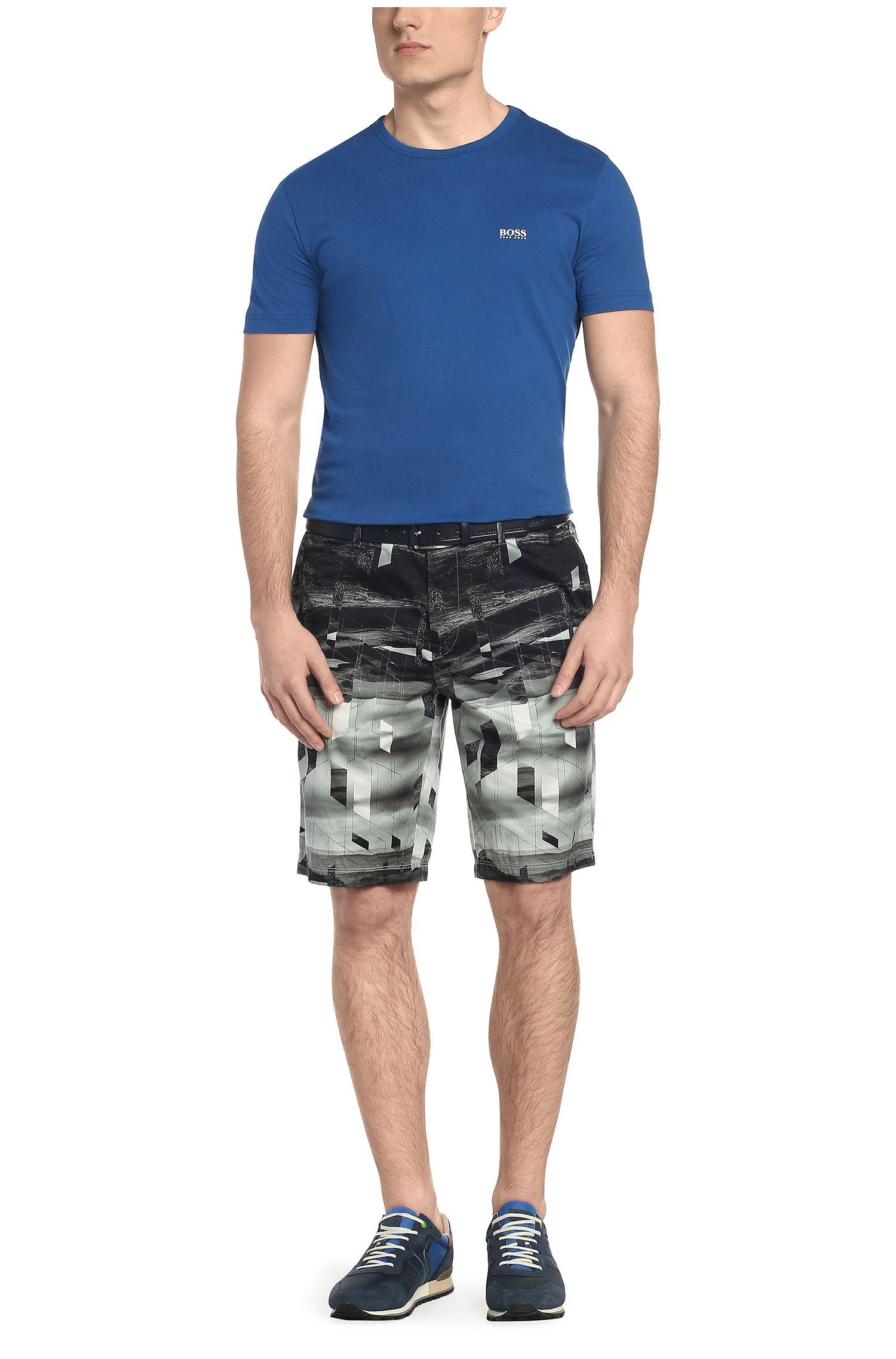 Gemusterte Slim-Fit Shorts aus Baumwoll-Mix mit Elasthan: ´Liem2-Print-W`