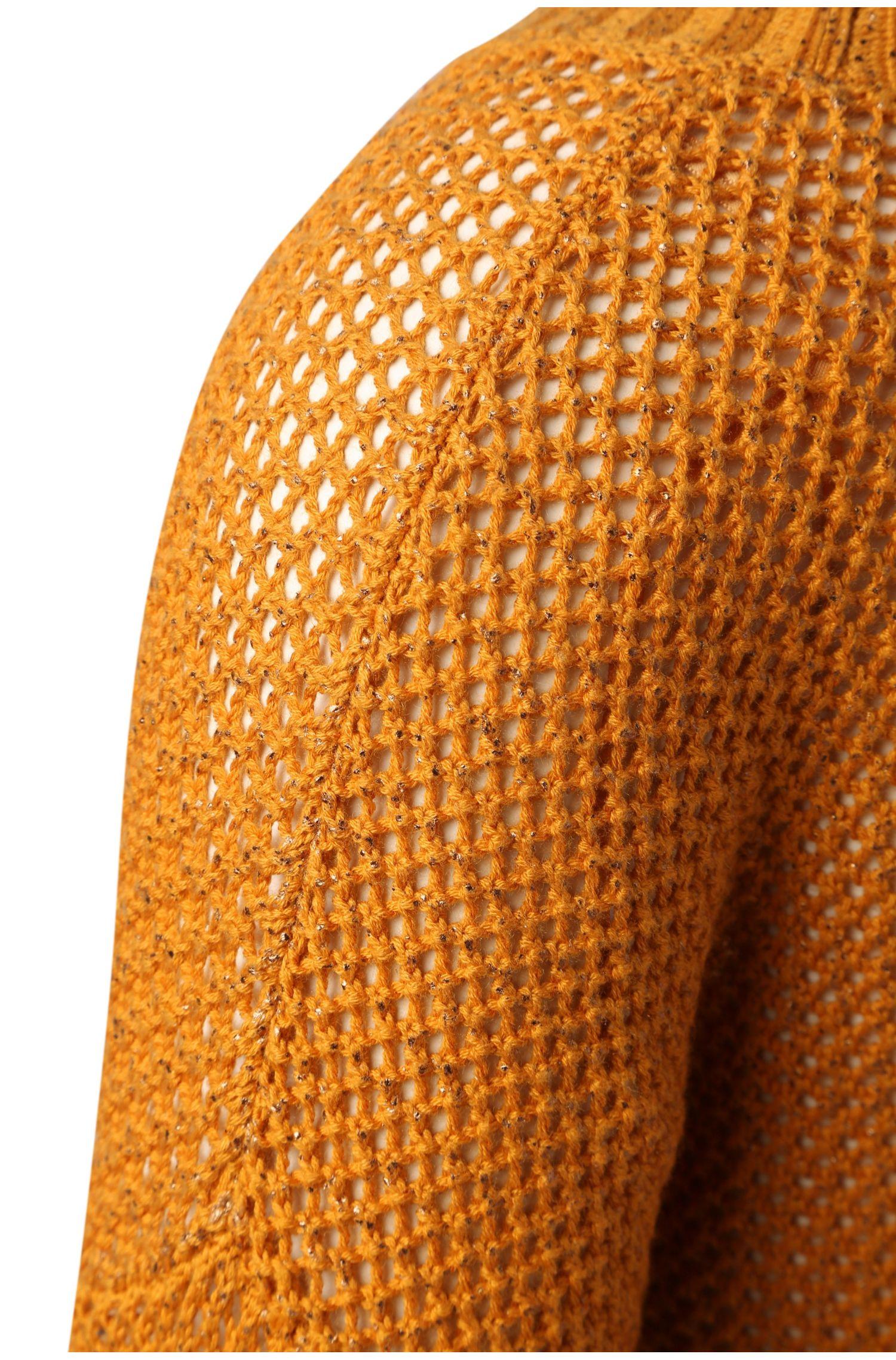 Strickpullover aus Baumwoll-Mix mit Lochmaschen: ´Imega`