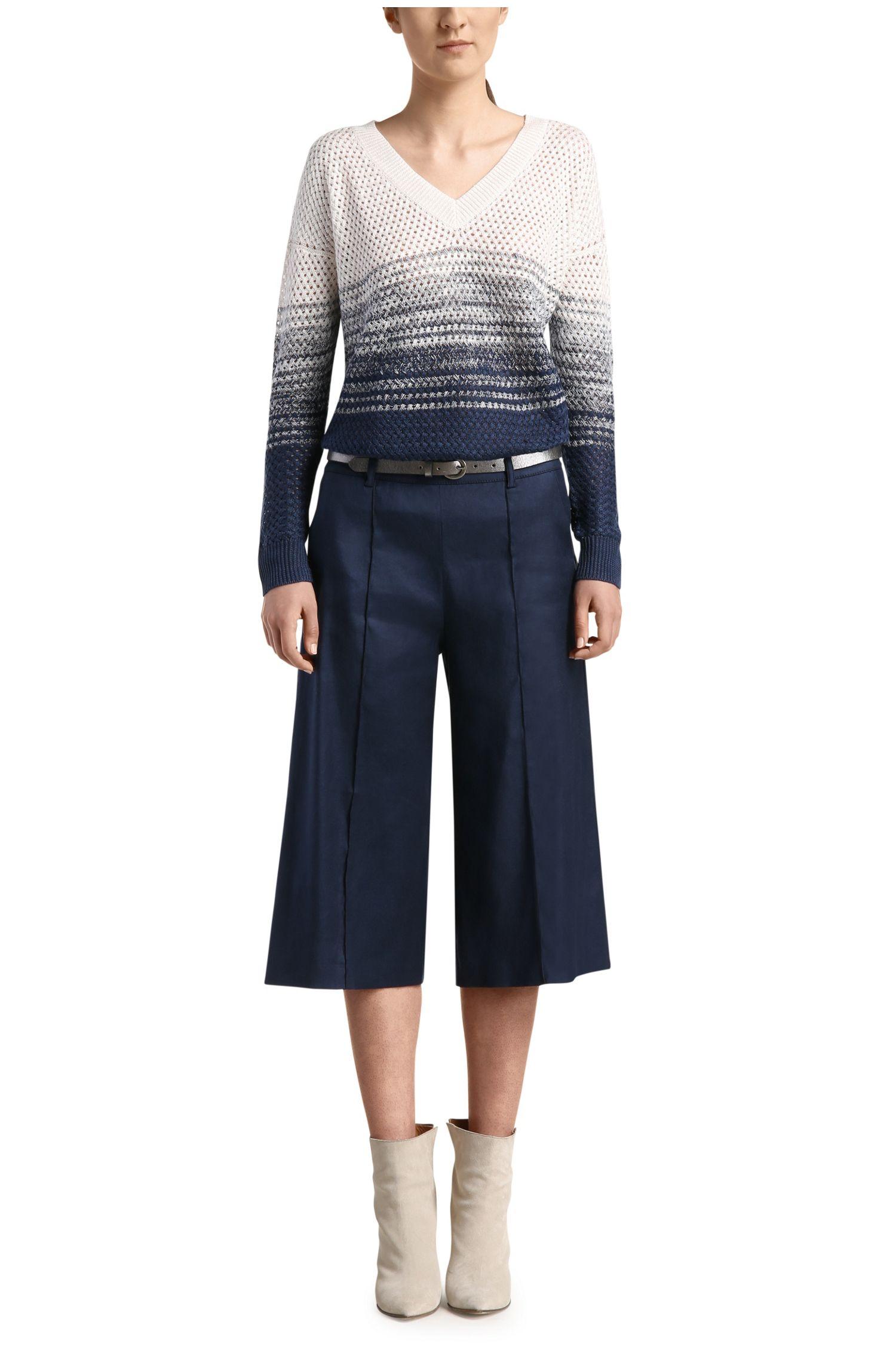 Gebreide trui van linnen en viscose met kleurverloop: 'Wirola'