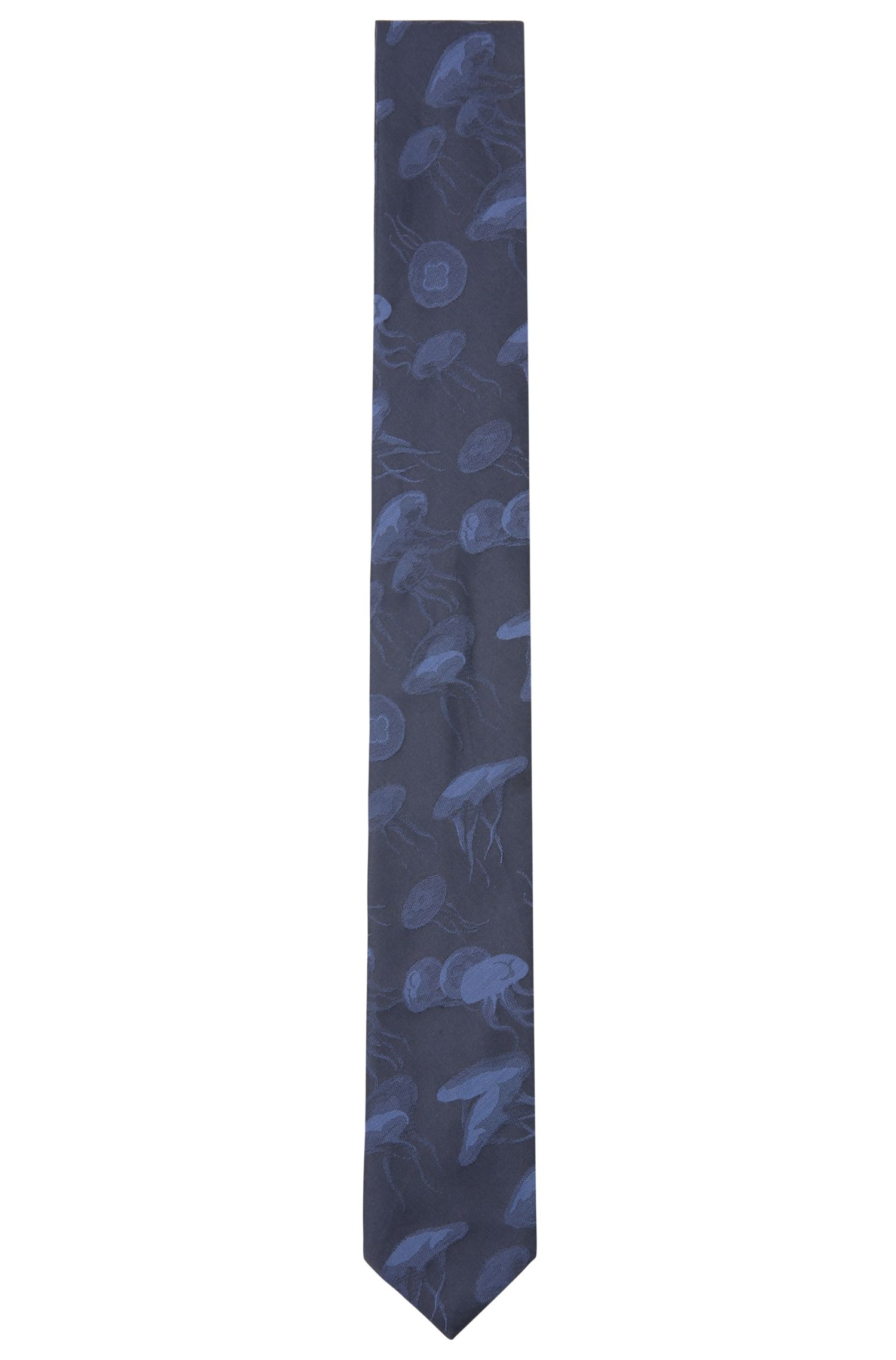 Patterned tie in cotton blend with silk: 'Tie 5 cm'