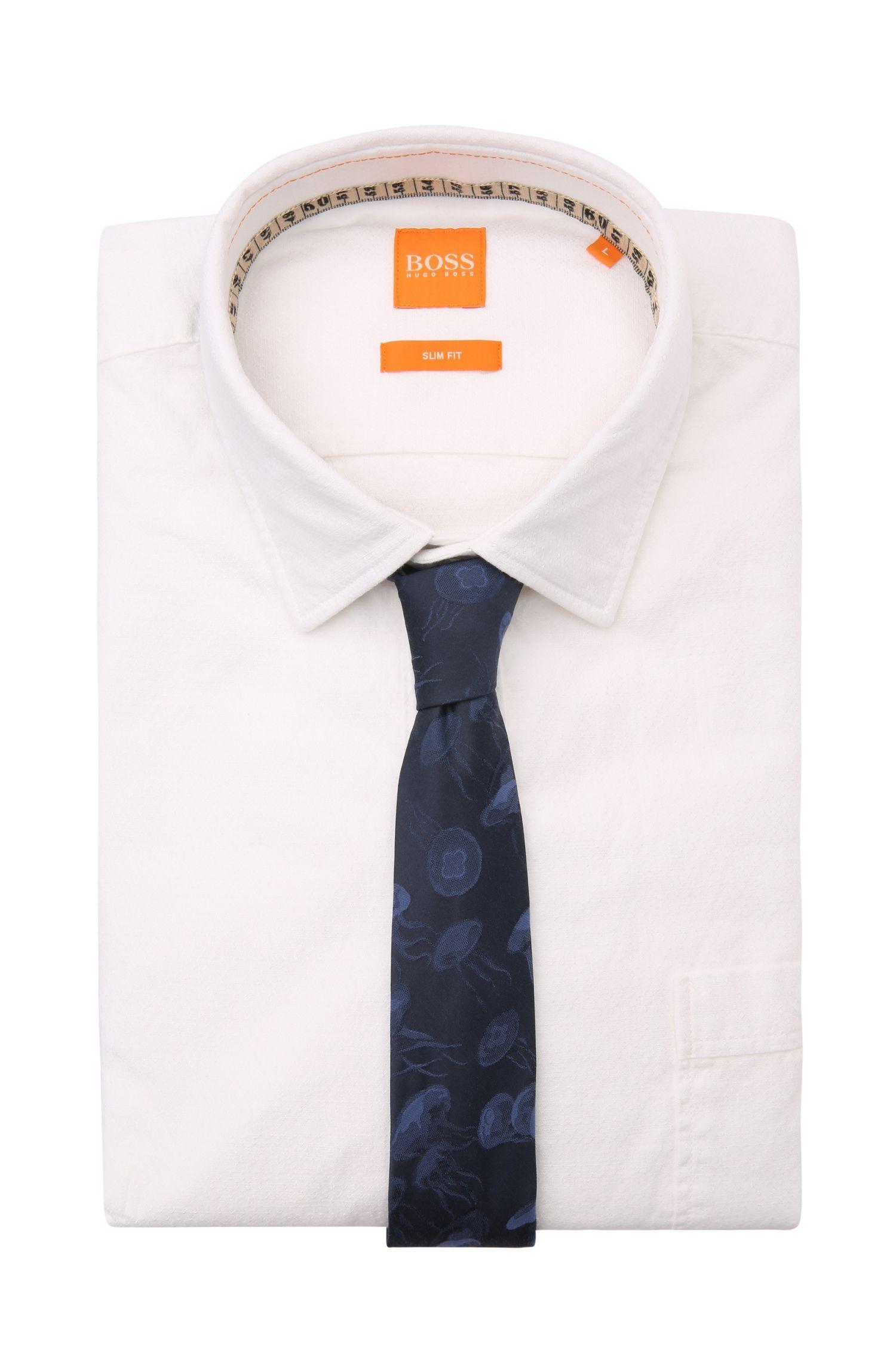 Cravate à motif en mélange de coton et de soie: «Tie 5 cm»