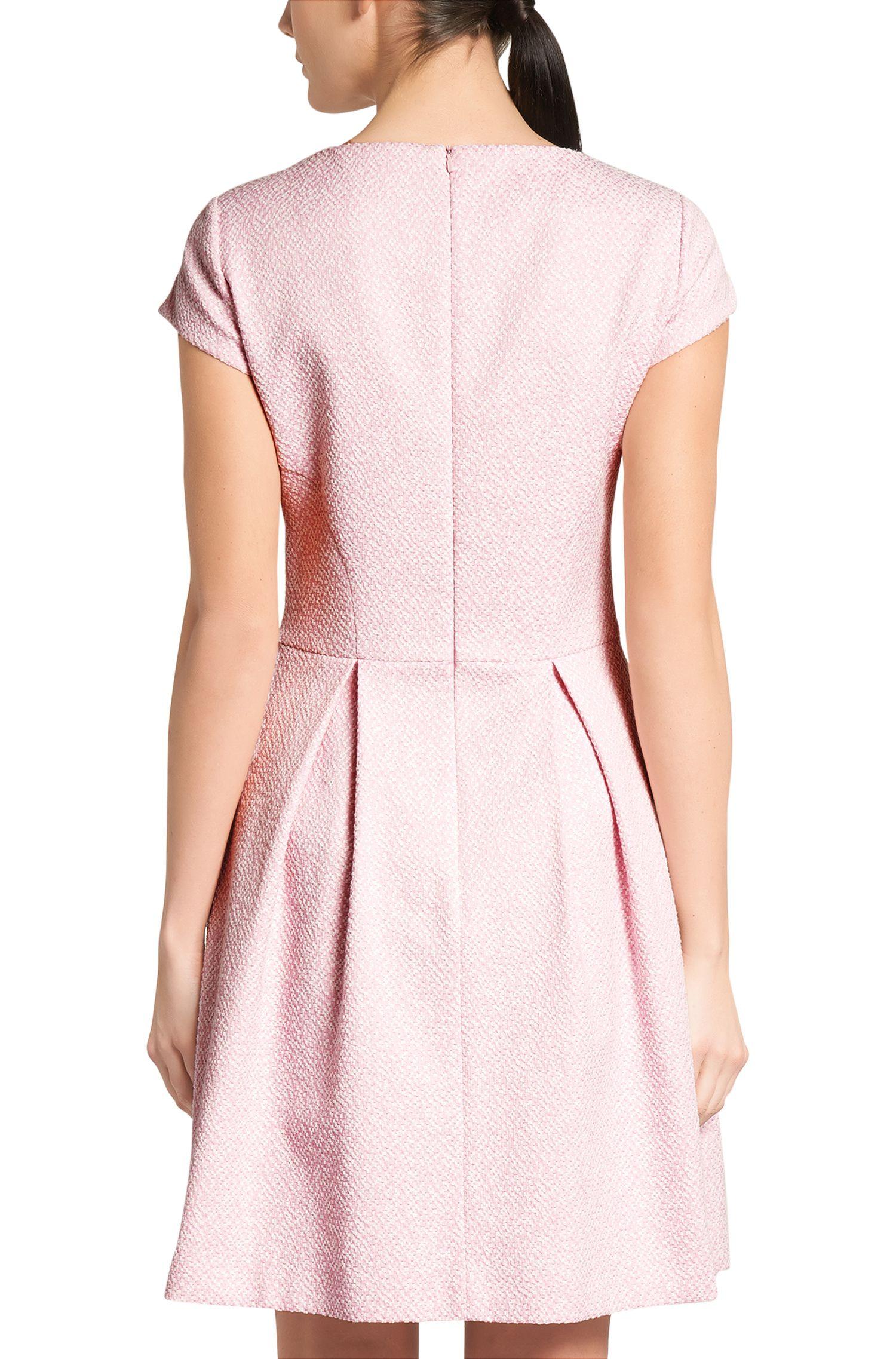 Kleid aus strukturiertem Baumwoll-Mix: 'Kiriko'