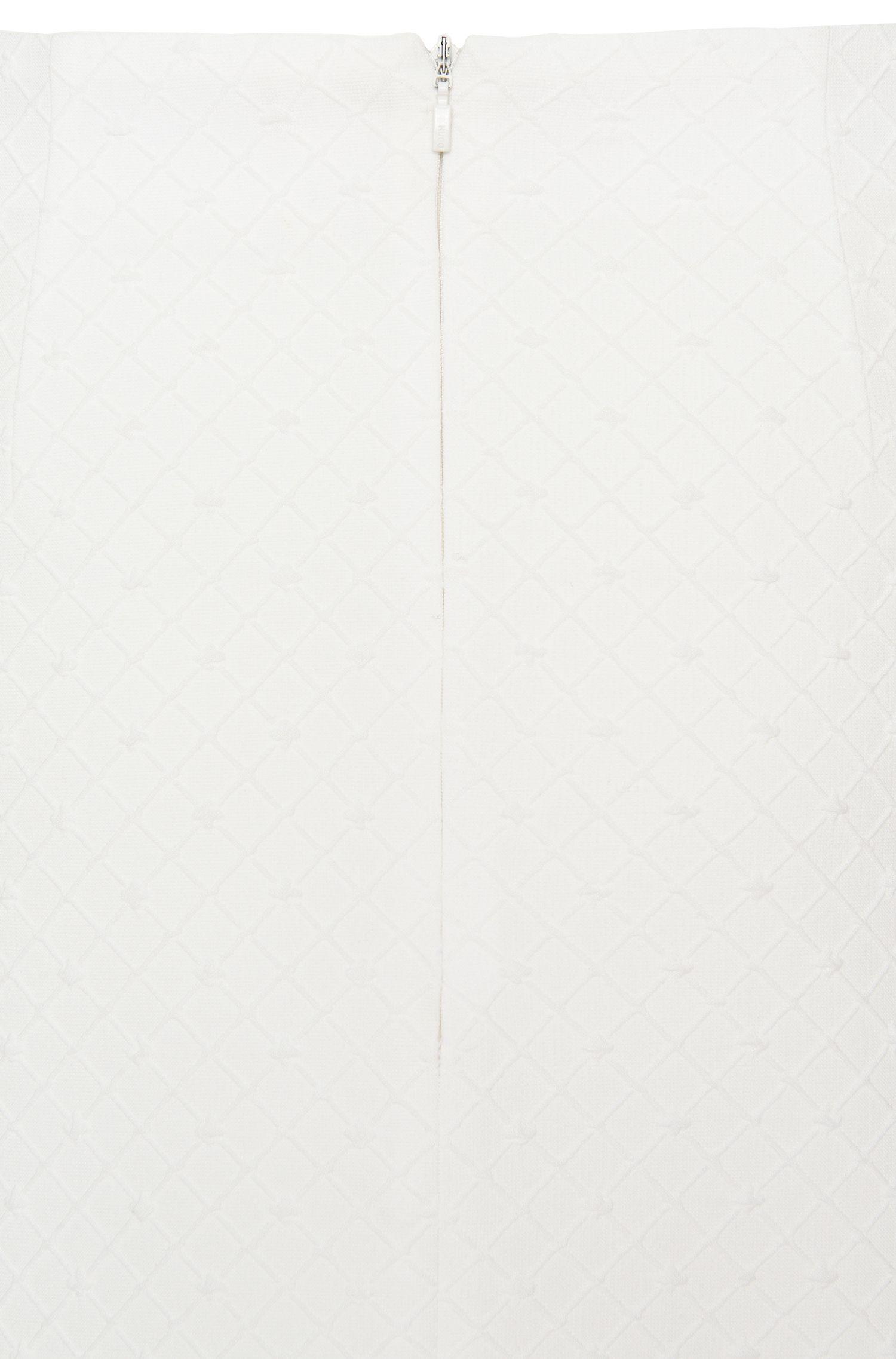 Unifarbener Rock aus strukturiertem Material-Mix: 'Raina'