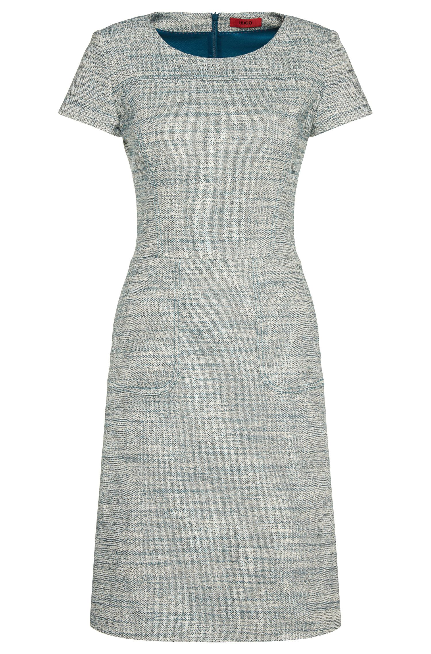 Fitted dress in stretch cotton blend: 'Kimore'