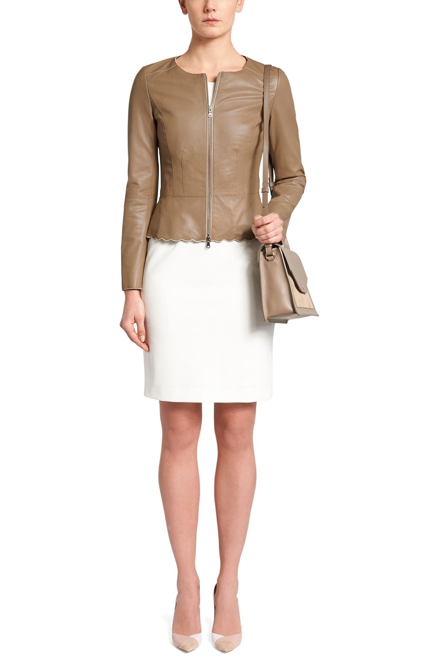 Taillierte kurze Lederjacke: 'Lioba'