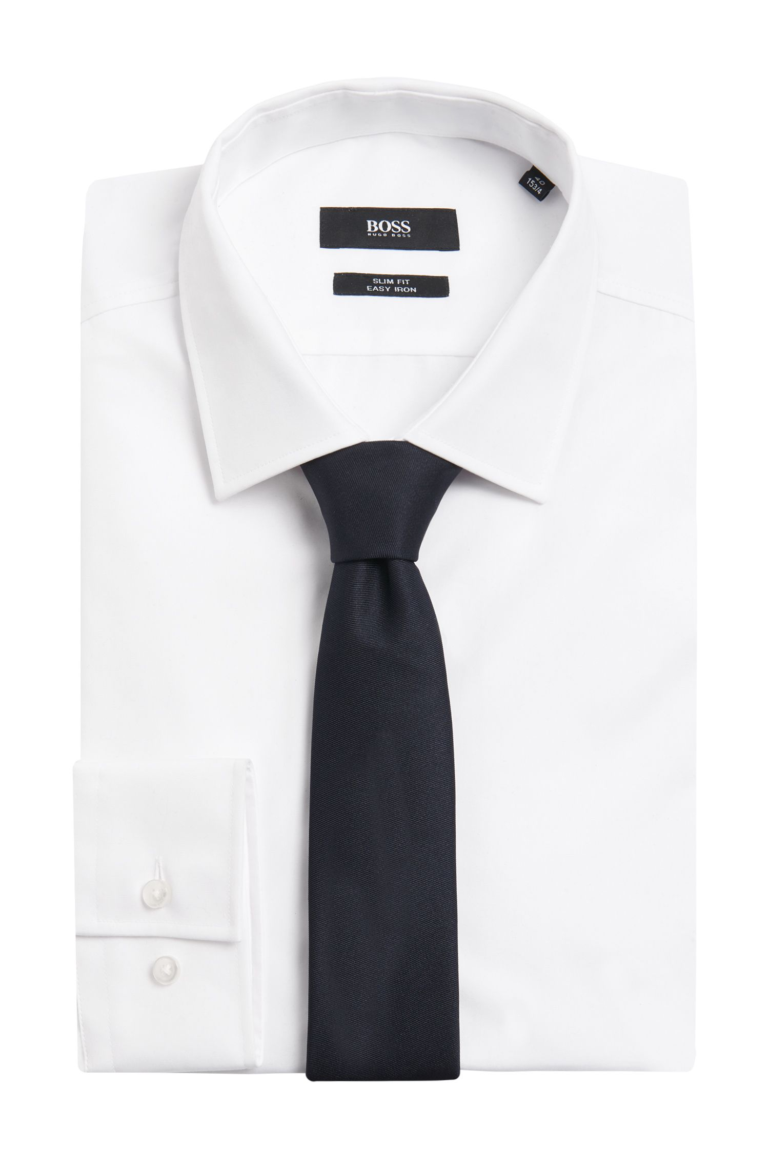 Unifarbene Tailored Krawatte aus Seide: 'T-Tie 6 cm soft'