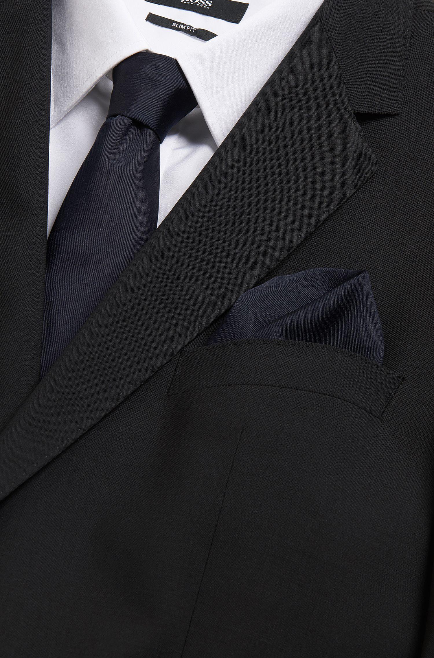 Unifarbenes Einstecktuch aus reiner Seide: 'T-Pocket sq. cm33x33'