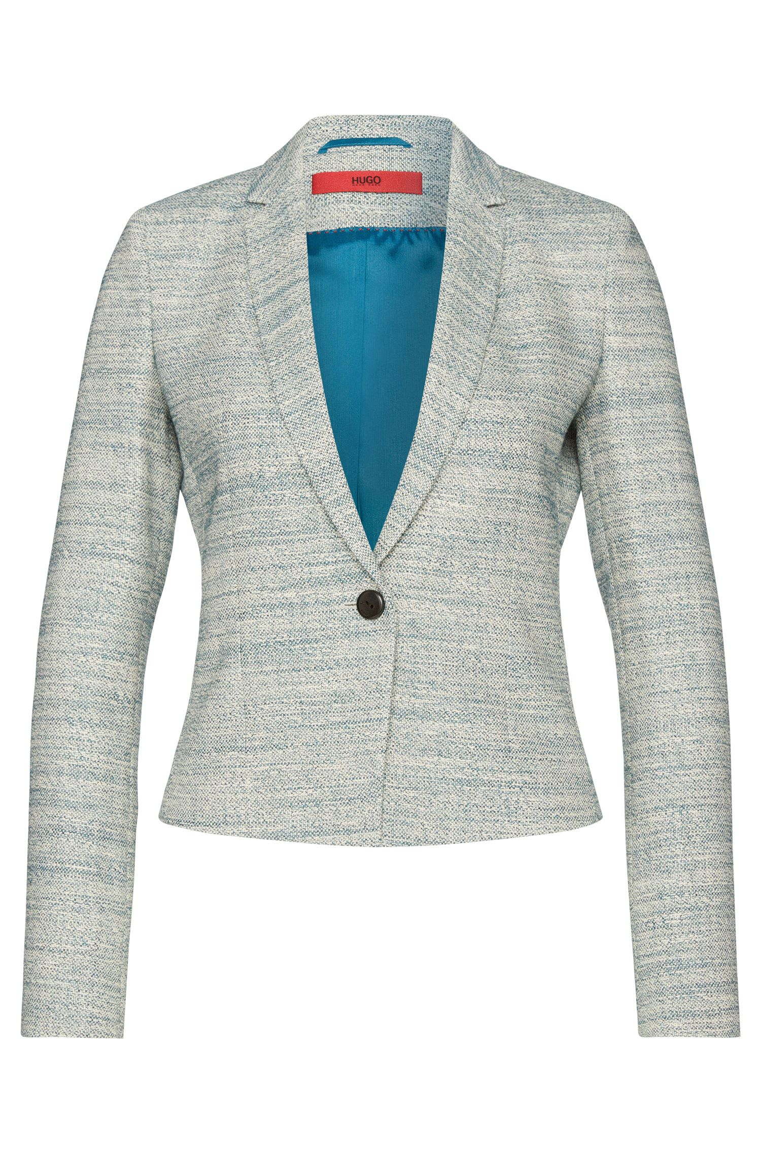 Bouclé-style blazer in cotton blend with elastane: 'Adiasa'