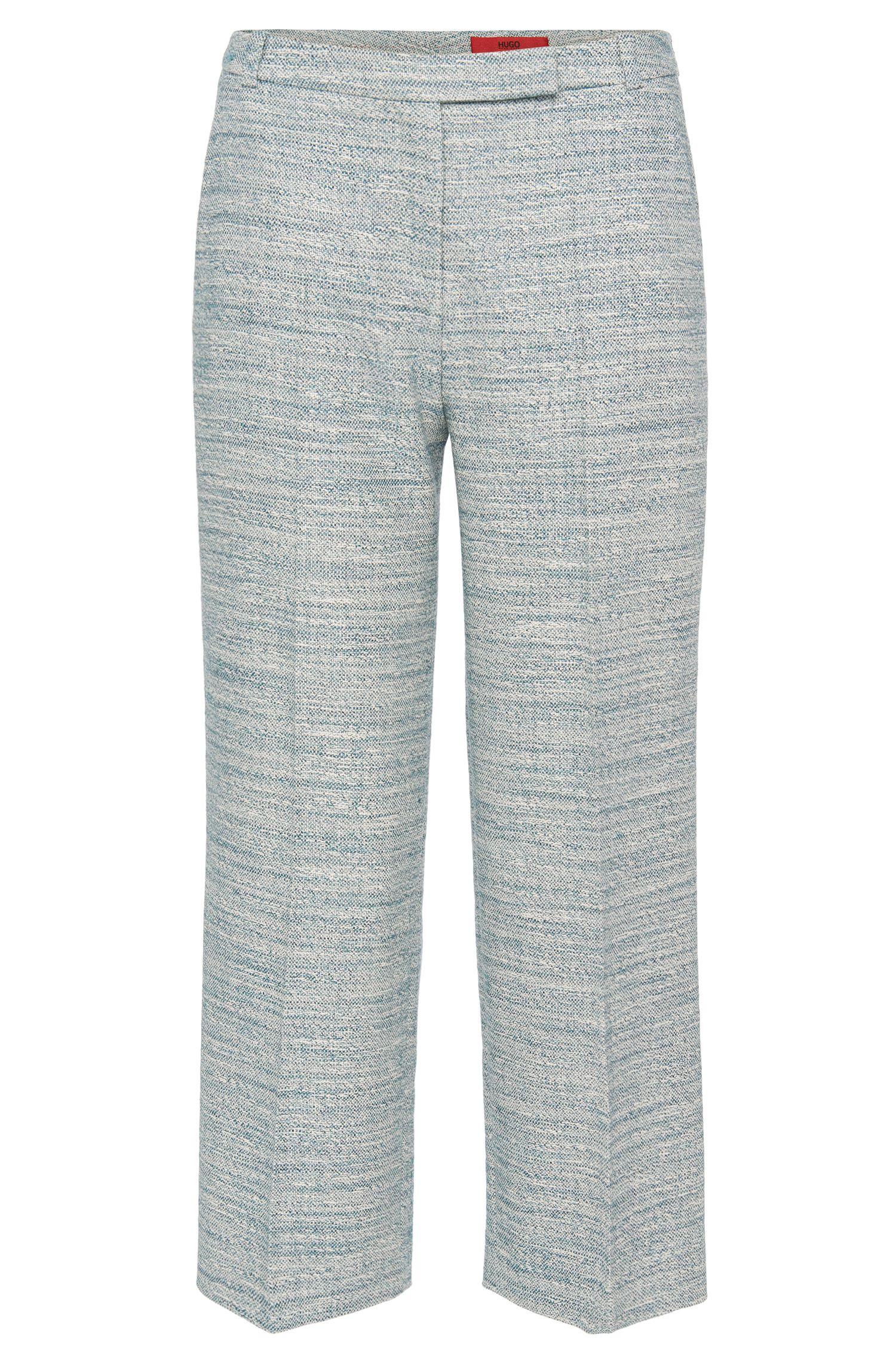 Pantalon en coton mélangé de style jupe-culotte: «Hokena»