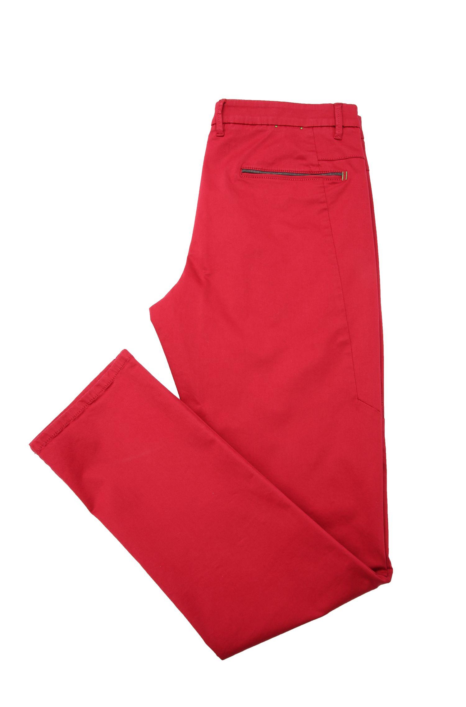 Pantalon Slim Fit en coton mélangé, avec de la viscose et de l'élasthanne: «Leeman3-3-W»
