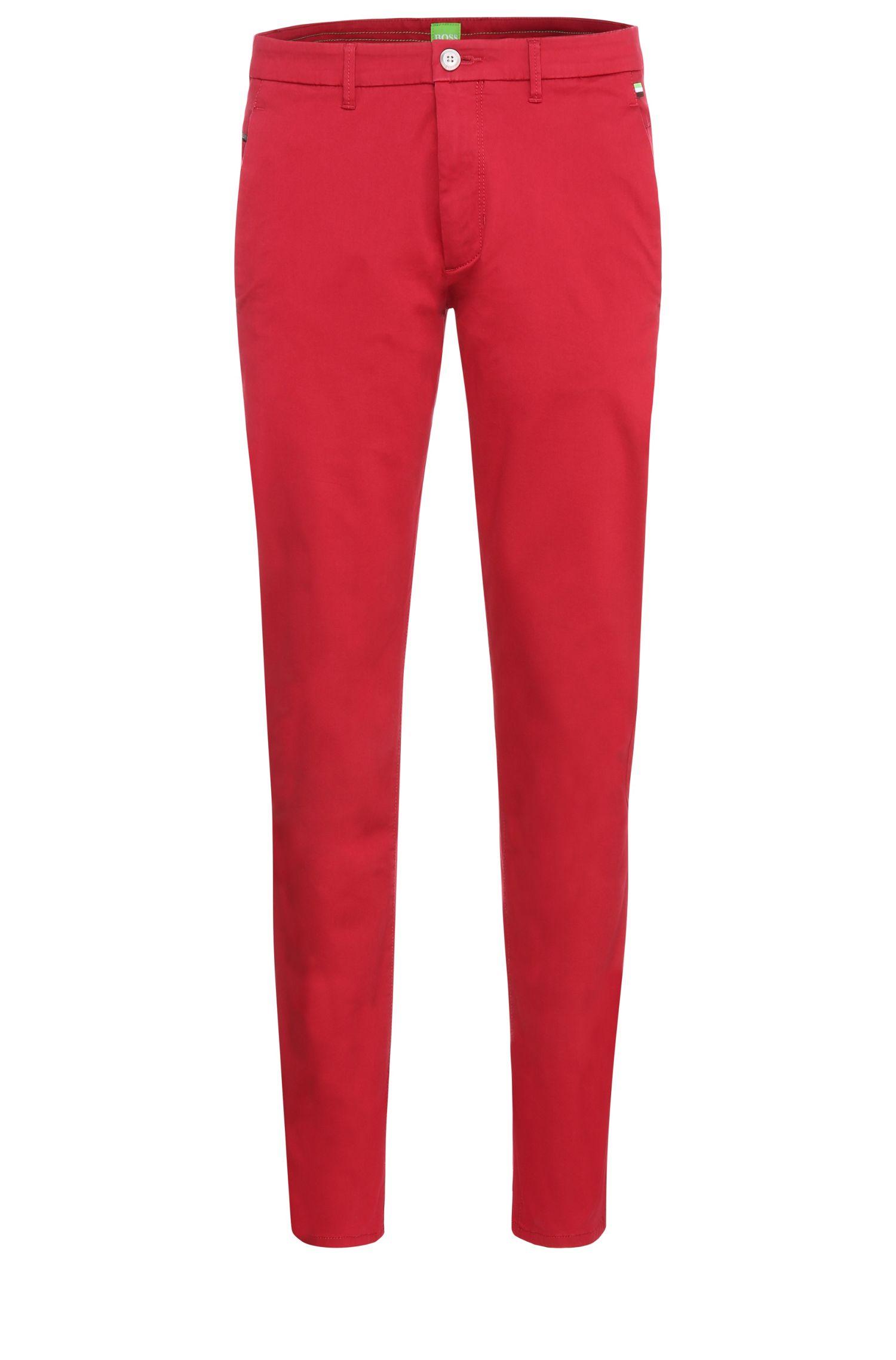 Slim-fit broek van een katoenmix met viscose en elastaan: 'Leeman3-3-W'