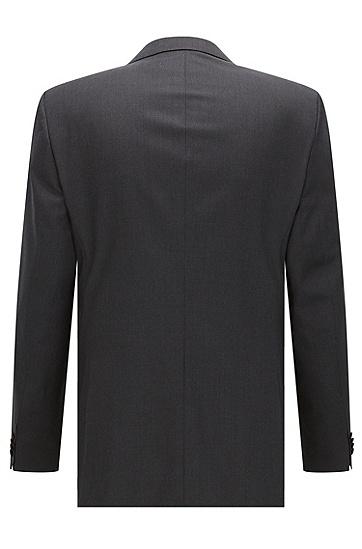 修身版新羊毛珠边缝线外套,  021_暗灰色