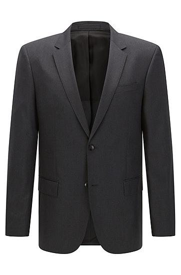 Veste de costume Slim Fit en laine vierge avec coutures AMF: «Hayes_cyl», Gris sombre