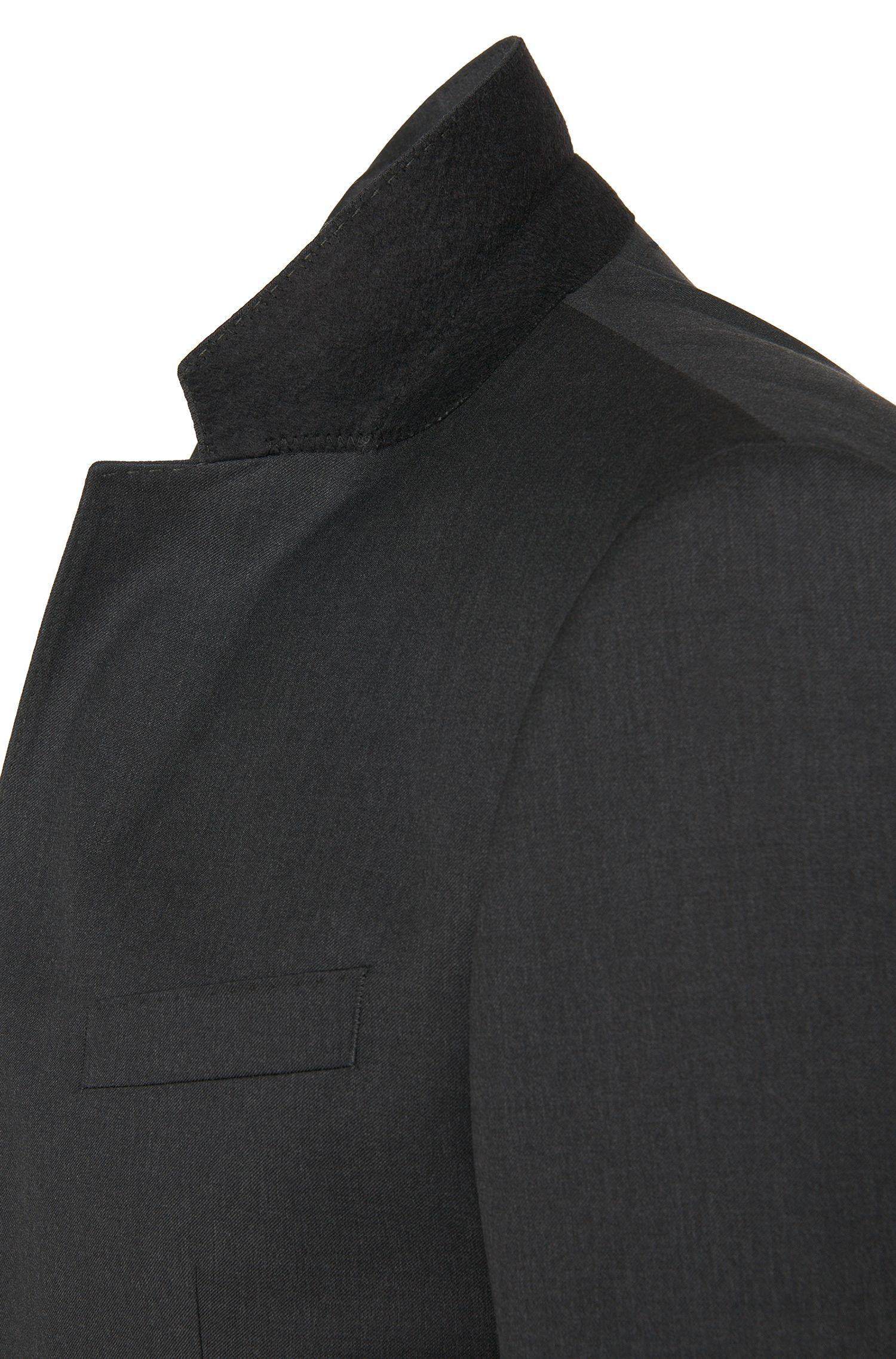 Veste de costume Slim Fit en laine vierge avec coutures AMF: «Hayes_cyl»
