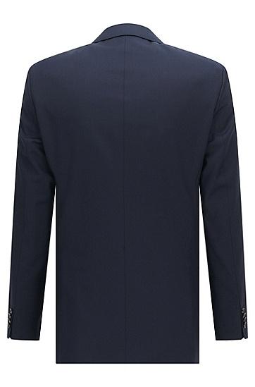 修身版新羊毛珠边缝线外套:' Hayes_cyl',  401_暗蓝色