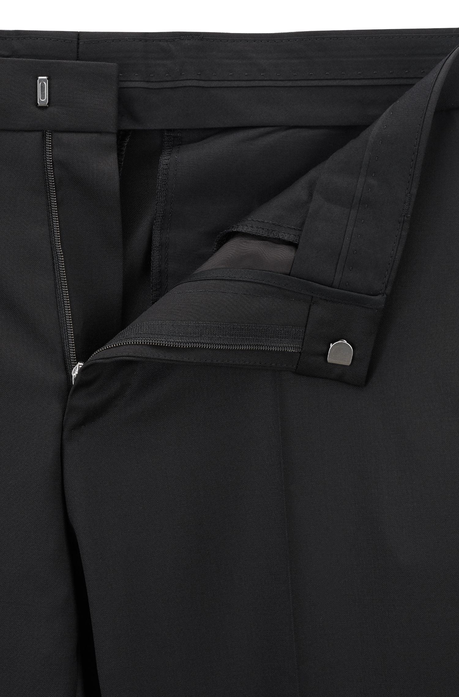 Pantalon Slim Fit en laine vierge unie: «Gibson_cyl»
