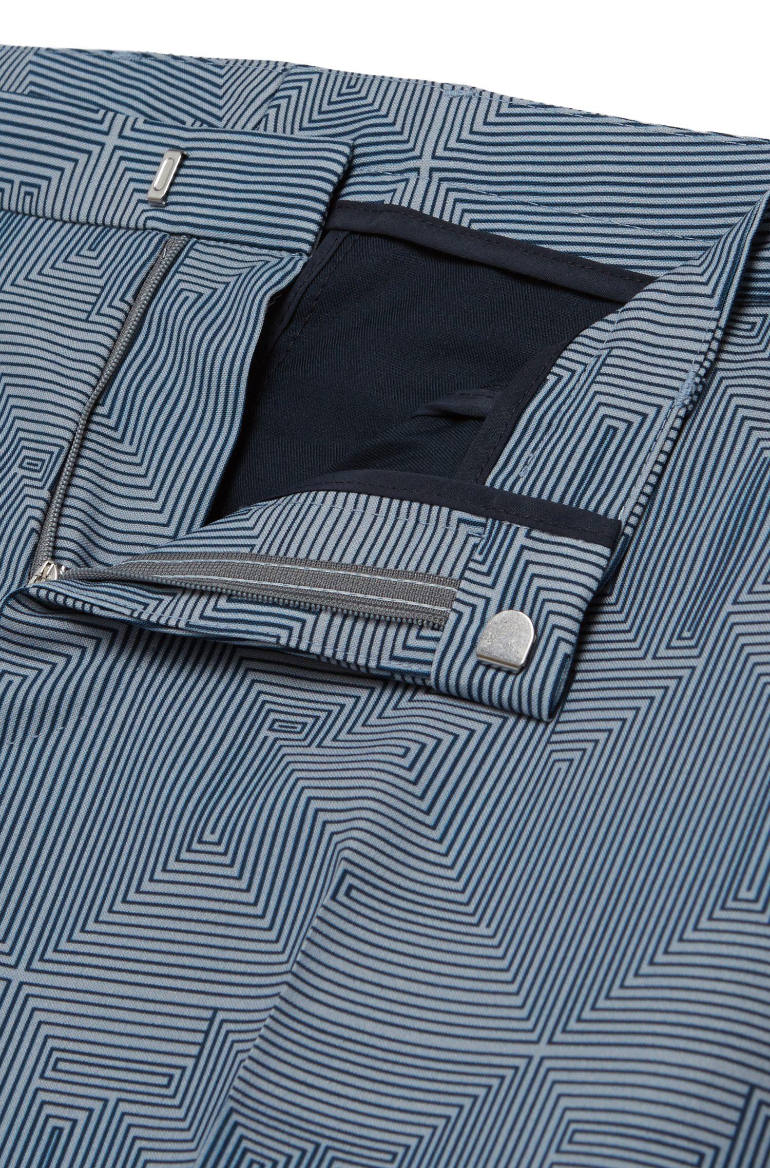 Gemusterter Extra Slim-Fit Anzug aus reiner Schurwolle: 'Rocco/Wyatt'