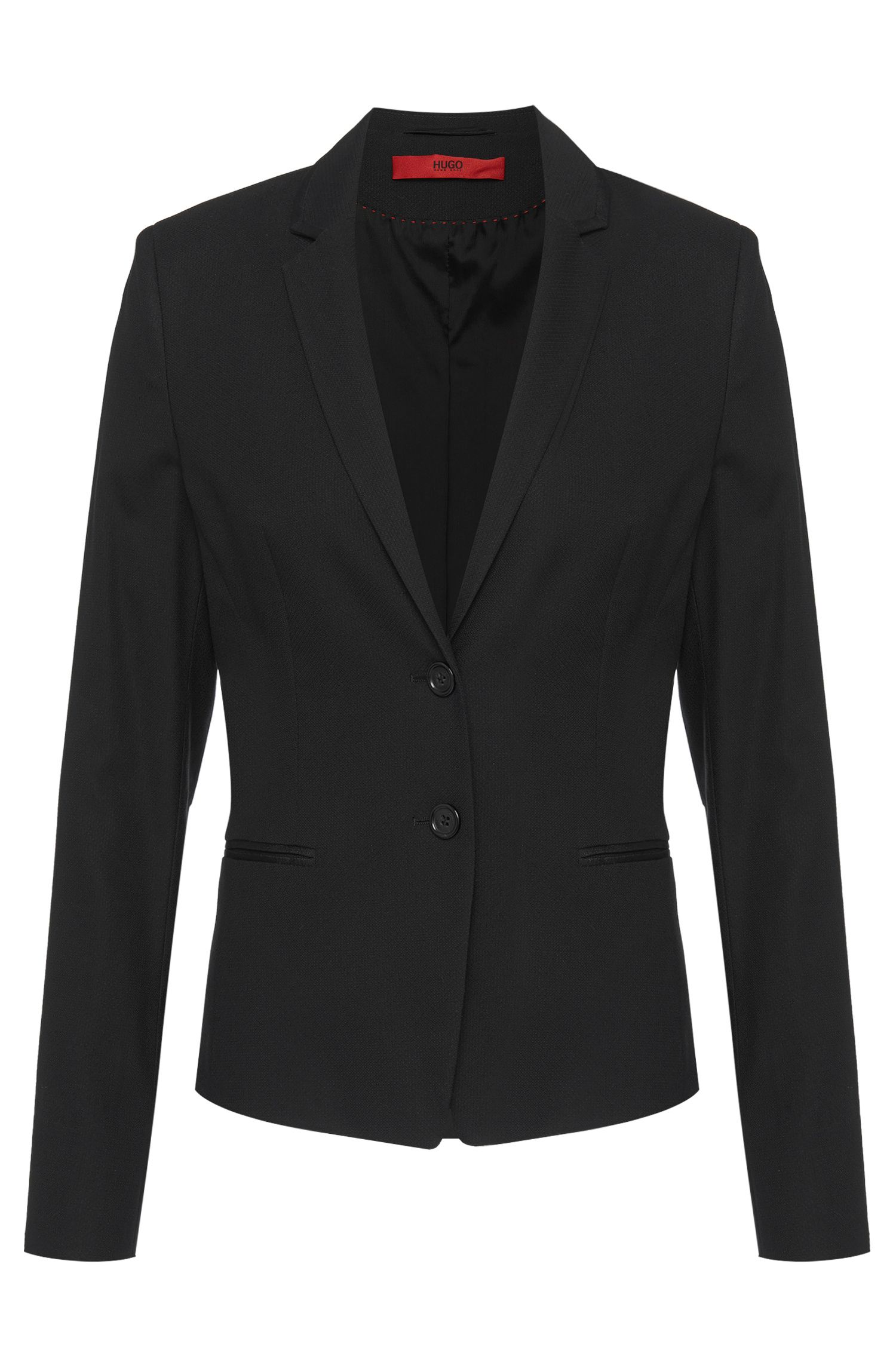 Regular-Fit Blazer aus Baumwoll-Mix: 'Aleva'