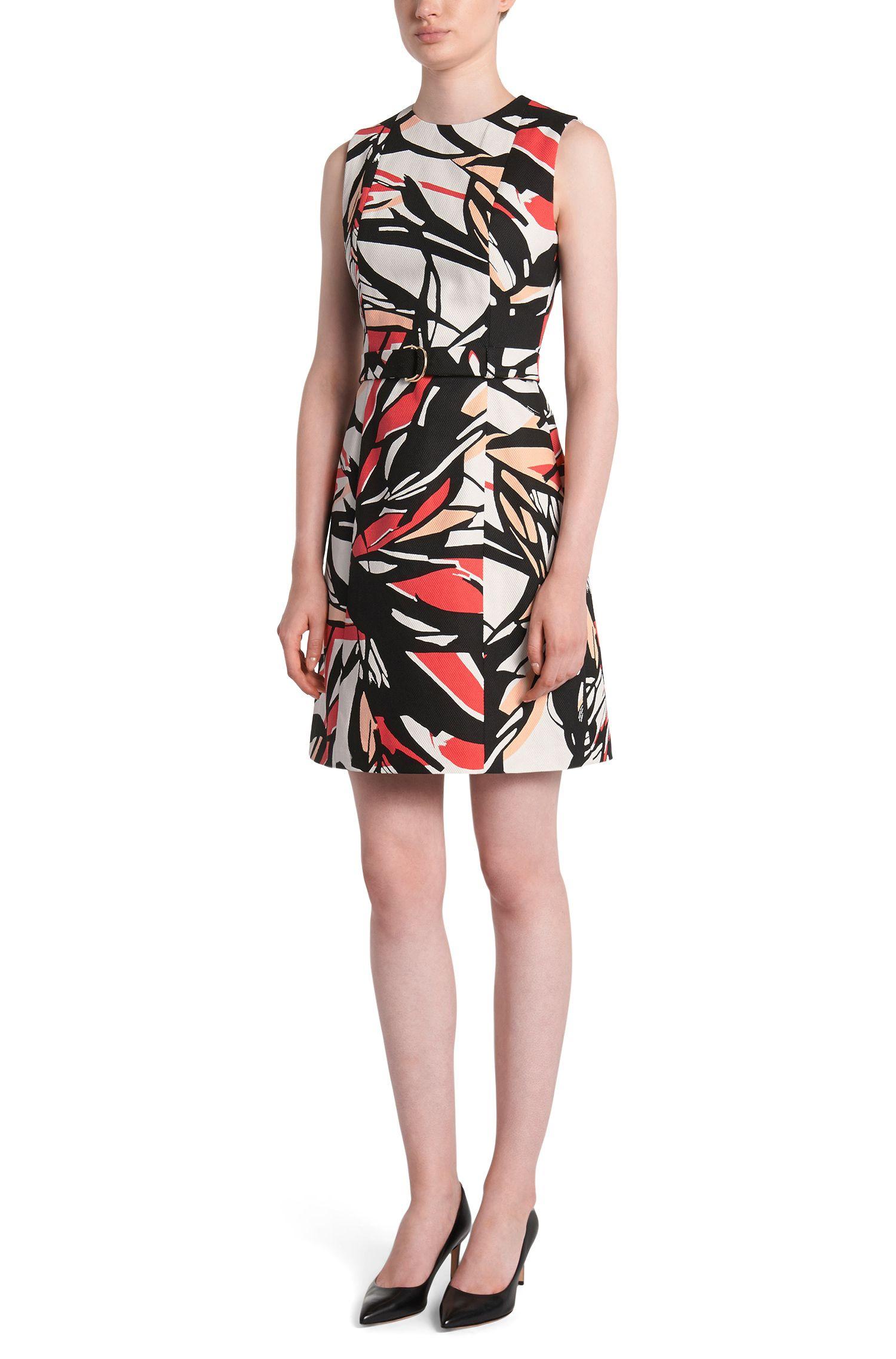 Etui-jurk van katoen met dessin: 'Diganira1'