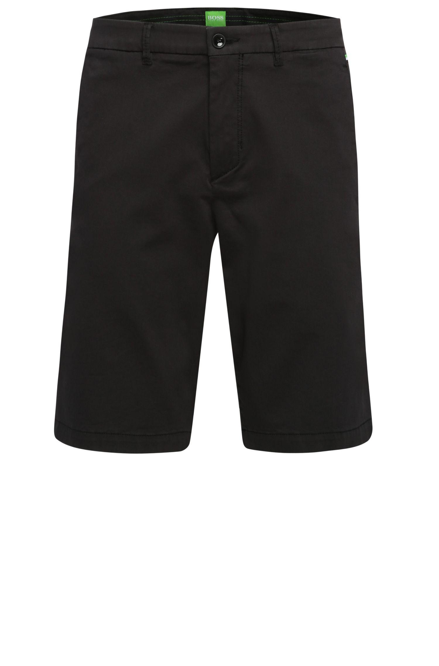 Slim-Fit Shorts aus elastischem Baumwoll-Viskose-Mix: ´Liem2-2-W`
