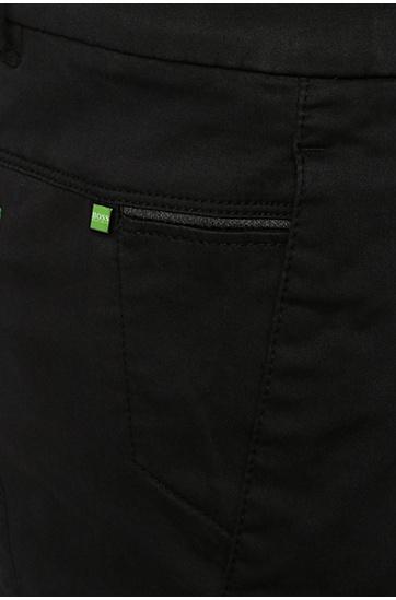 Slim-Fit Shorts aus elastischem Baumwoll-Viskose-Mix: ´Liem2-2-W`, Schwarz