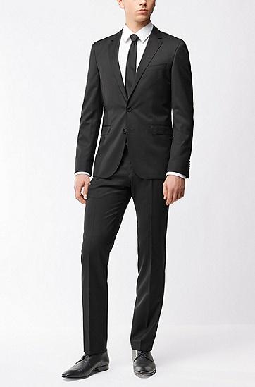 超修身版新羊毛珠边线外套,  001_黑色
