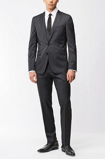 超修身版新羊毛珠边线外套,  021_暗灰色
