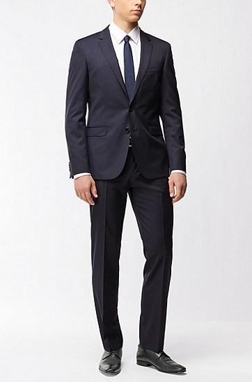 超修身版新羊毛珠边线外套,  401_暗蓝色