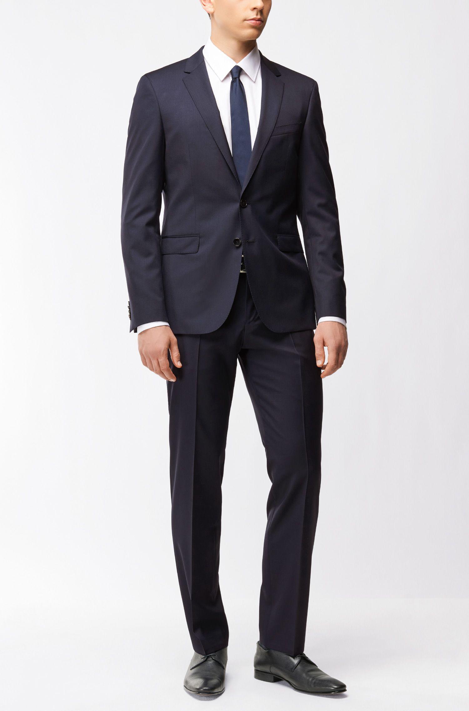 Veste de costume Extra Slim Fit en laine vierge avec coutures AMF: «Ryan_cyl»