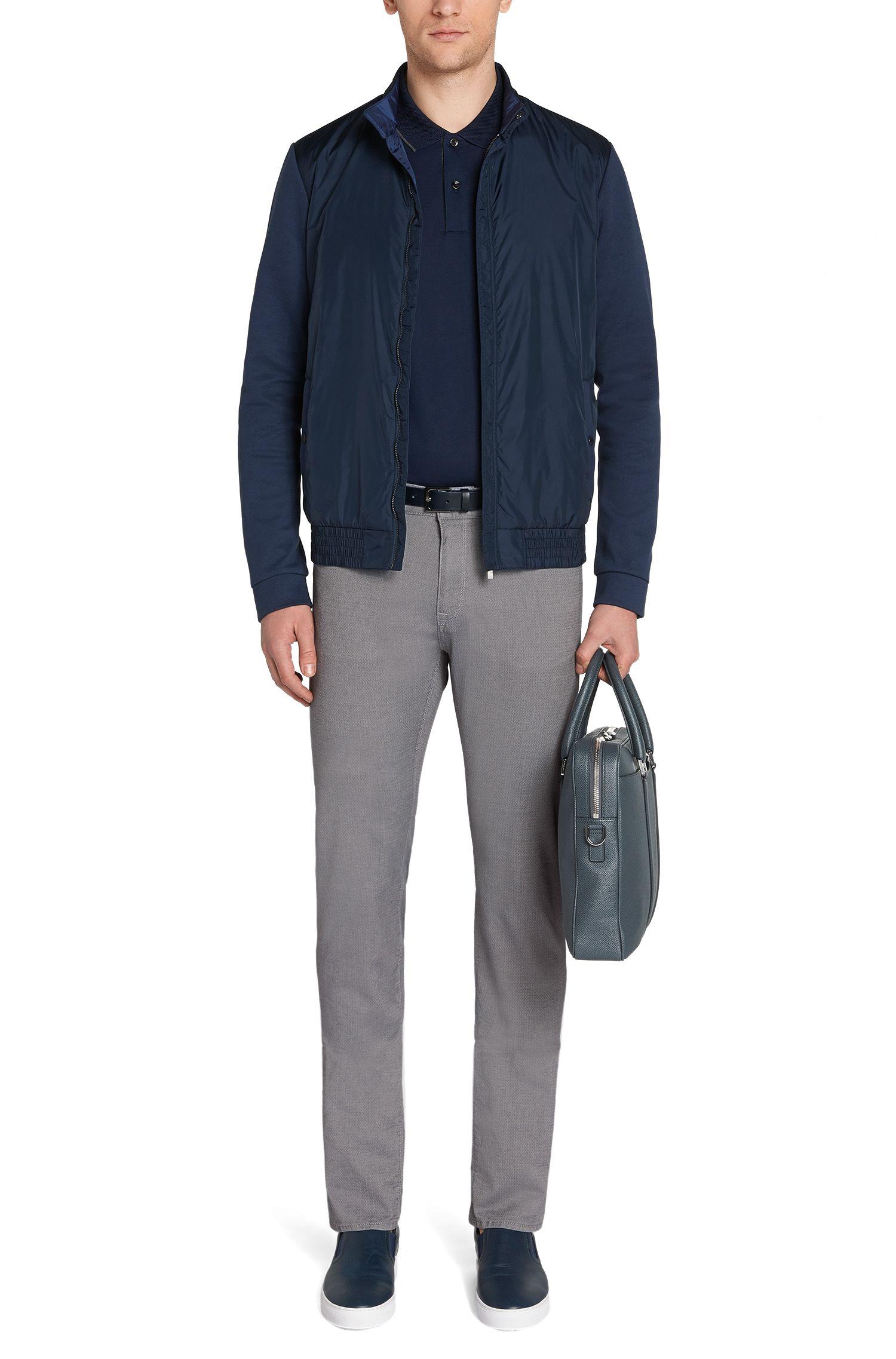 Fein gemusterte Regular-Fit Jeans aus Baumwoll-Mix: 'Maine4-20'