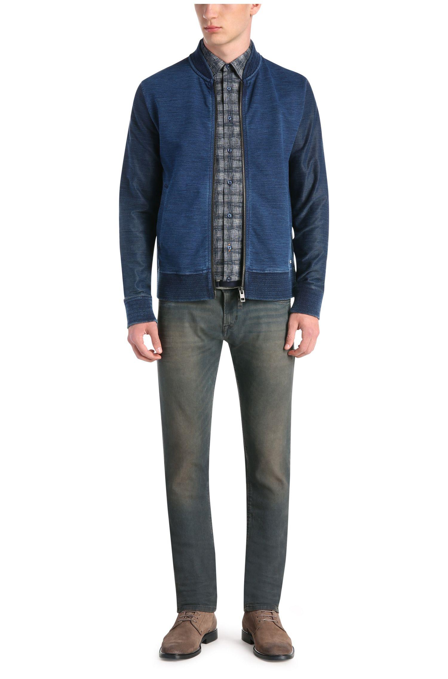 Extra slim-fit jeans van een katoenmix met elastaan: 'Orange71'