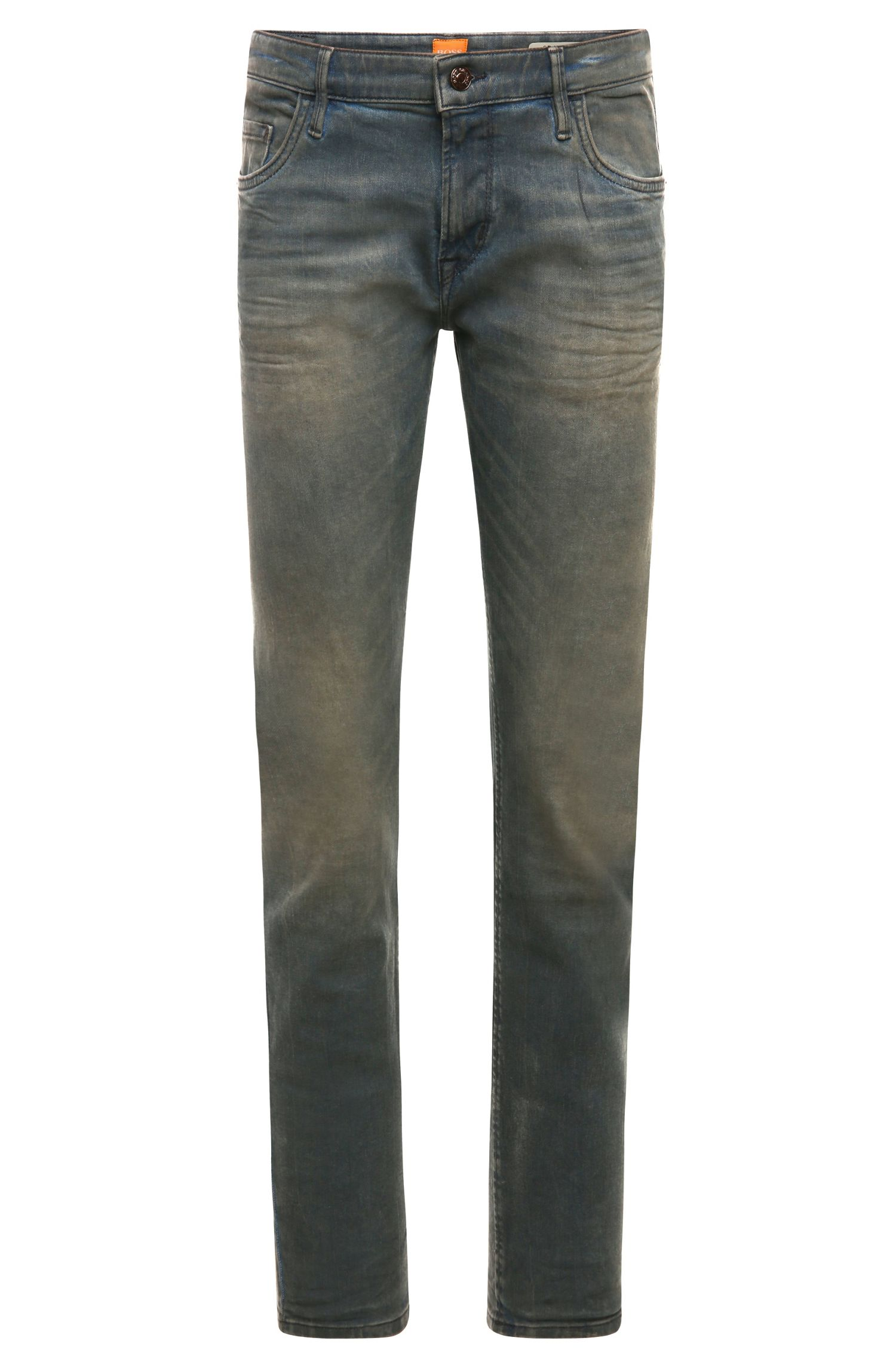 Extra slim-fit jeans in a cotton blend with elastane: 'Orange71'