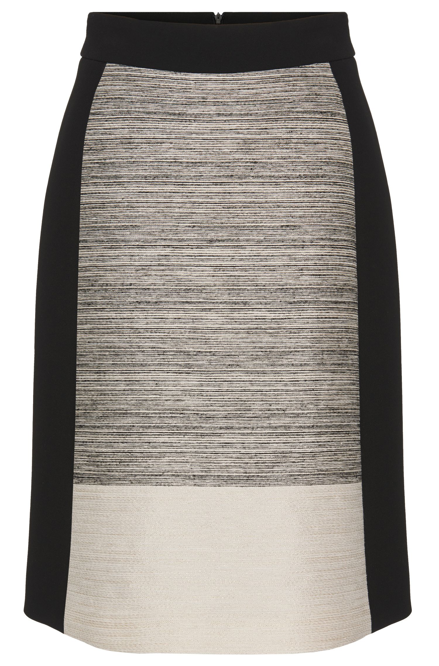 Flared skirt with contrasting insert: 'Viphima'