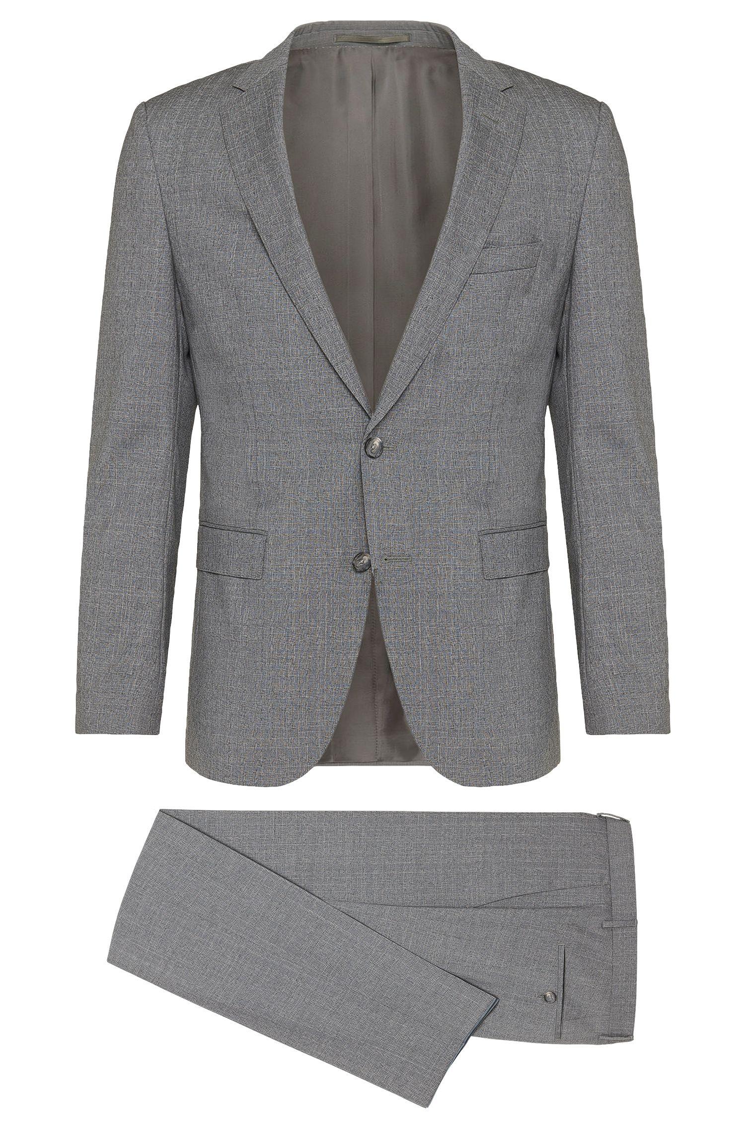 Slim-fit suit in new-wool blend: 'Novan3/Ben'