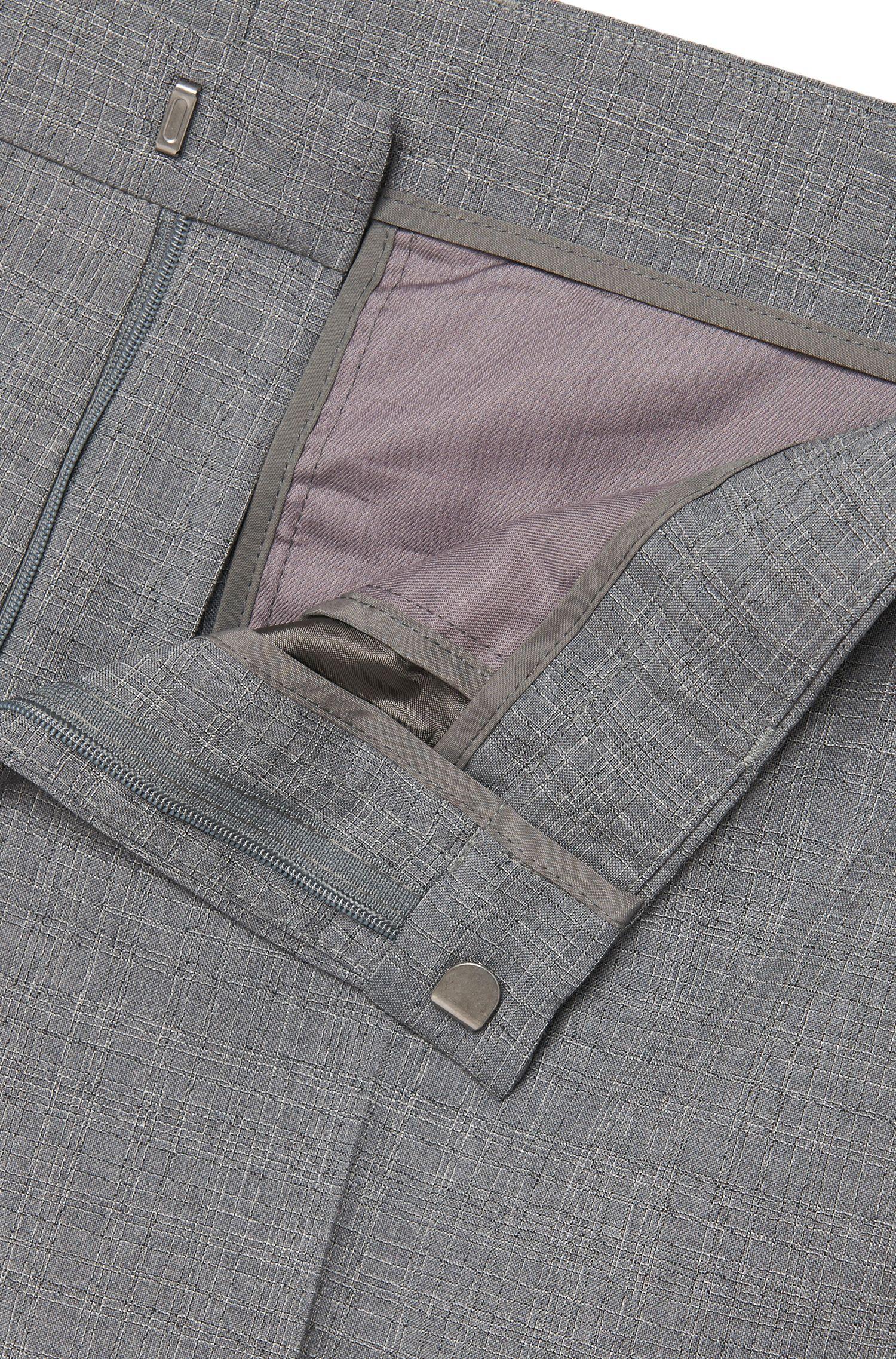 Slim-Fit Anzug aus Schurwoll-Mix: 'Novan3/Ben'