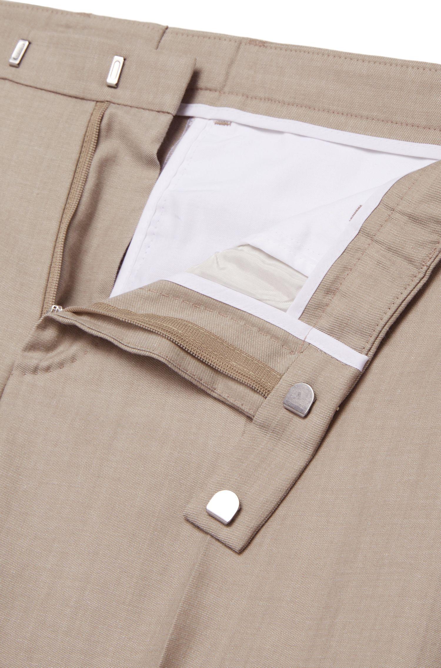 Costume Slim Fit en laine vierge mélangée doté d'une doublure partielle: «Nortan/Benno»