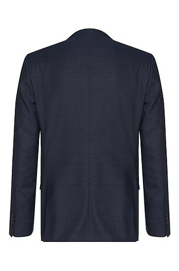 Slim-Fit Anzug aus reiner Schurwolle mit Perlmutt-Knöpfen: 'Hutson3/Gander1', Blau