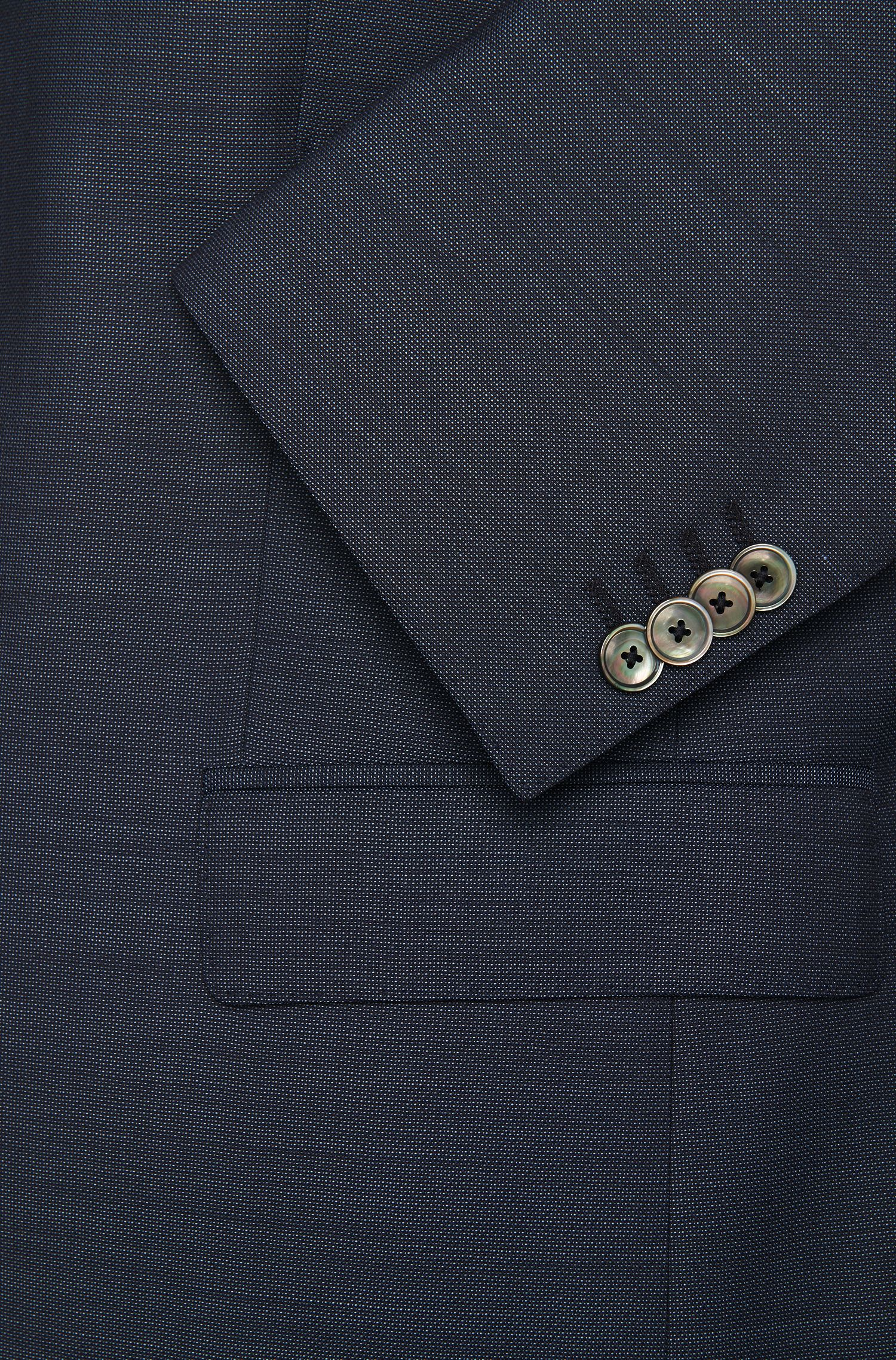 Costume Slim Fit en pure laine vierge avec boutons en nacre: «Hutson3/Gander1»