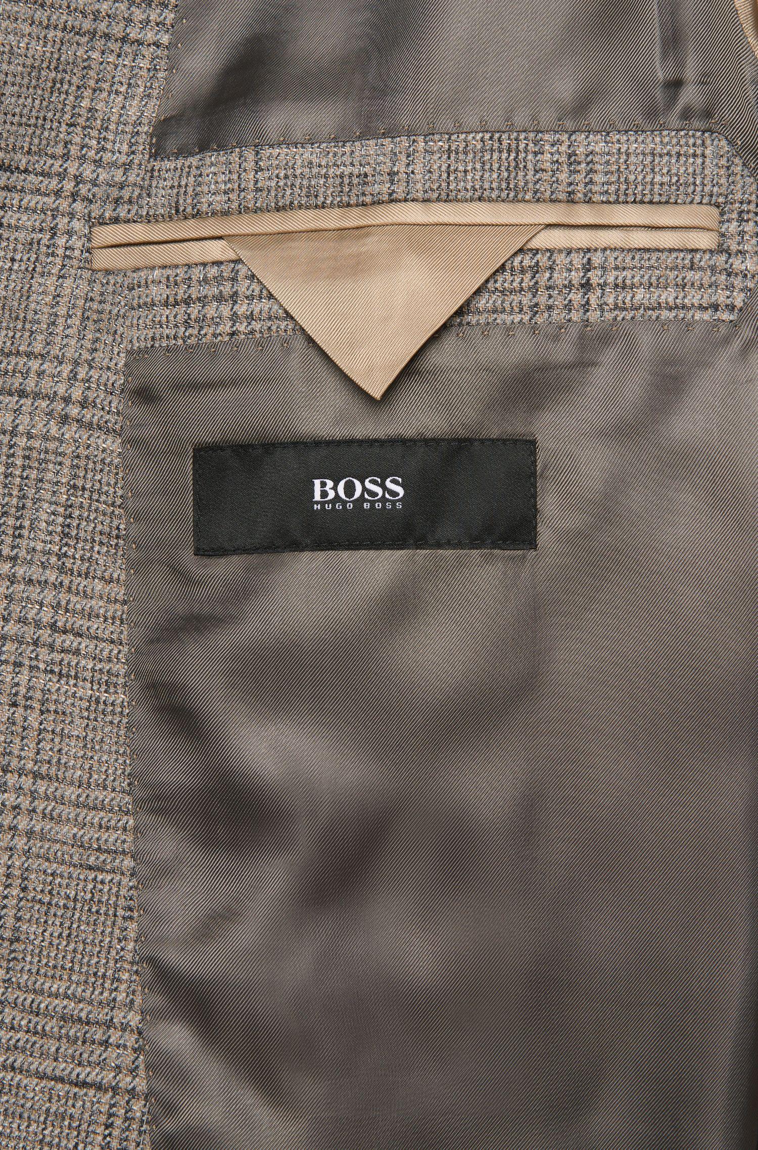 Veste de costume à carreaux Slim Fit en laine vierge mélangée à du coton et de la viscose: «Nasley_1»